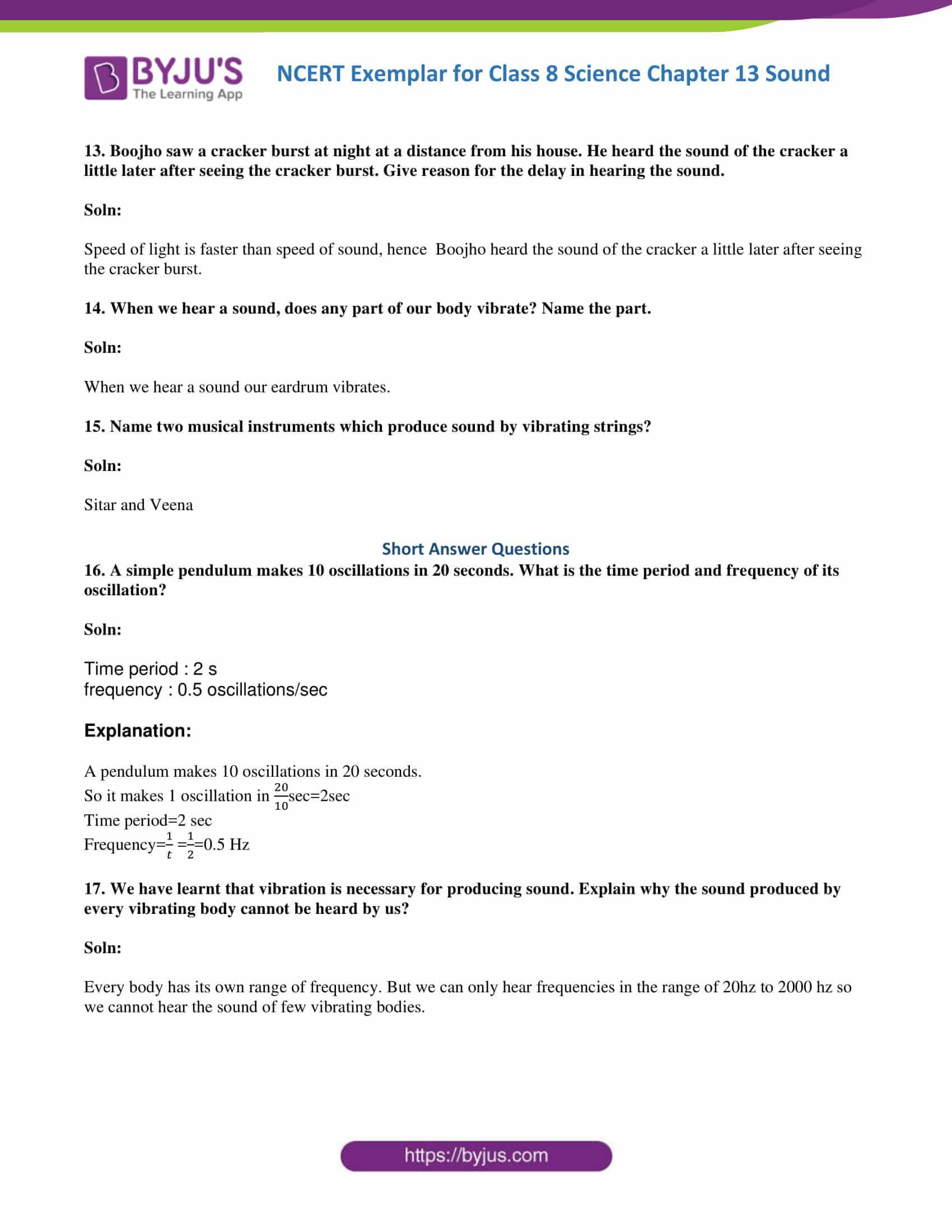 NCERT Exemplar solution class 8 science chapter 13 part 5