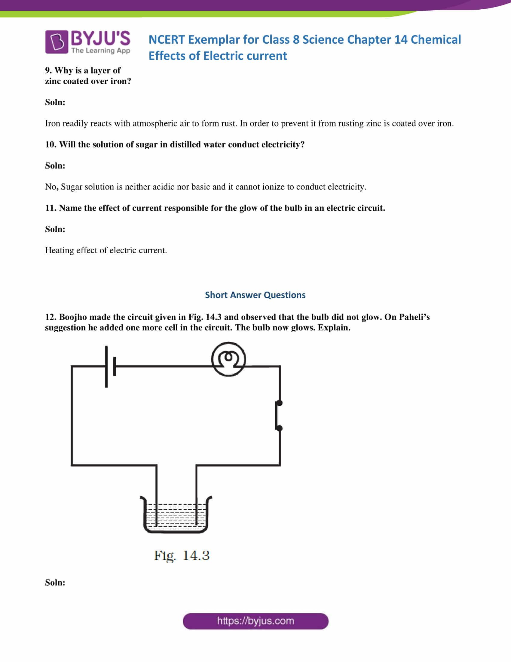 NCERT Exemplar solution class 8 science chapter 14 part 05