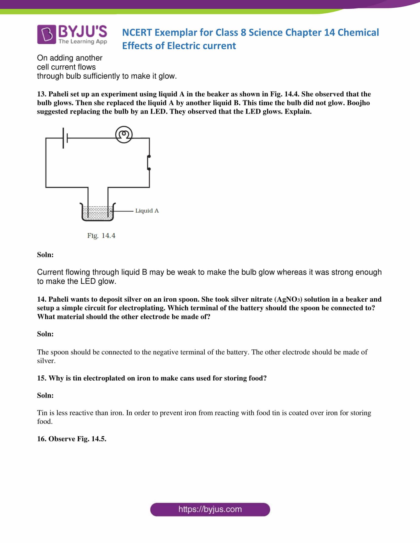 NCERT Exemplar solution class 8 science chapter 14 part 06