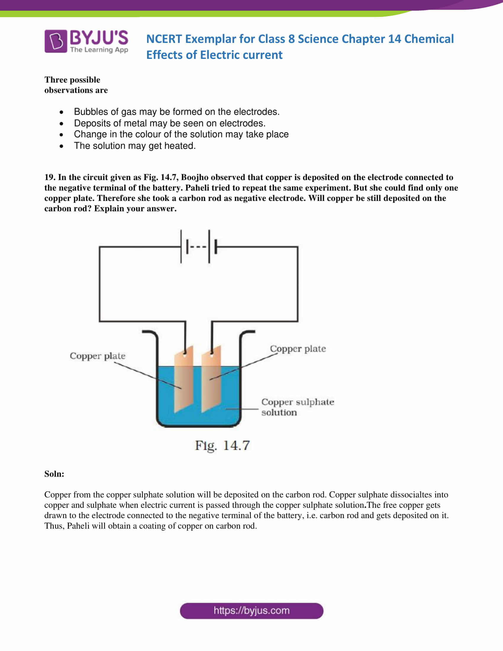 NCERT Exemplar solution class 8 science chapter 14 part 10