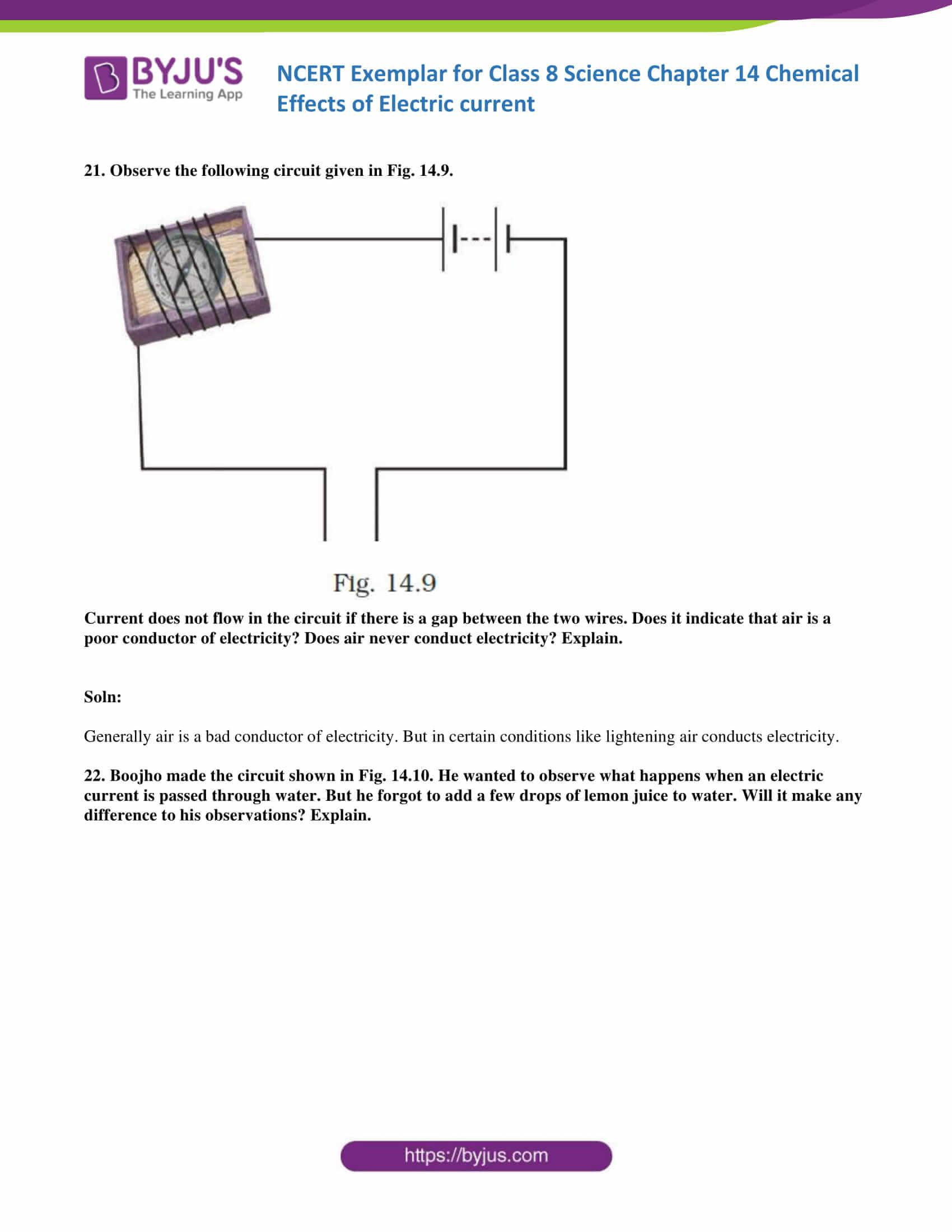 NCERT Exemplar solution class 8 science chapter 14 part 12