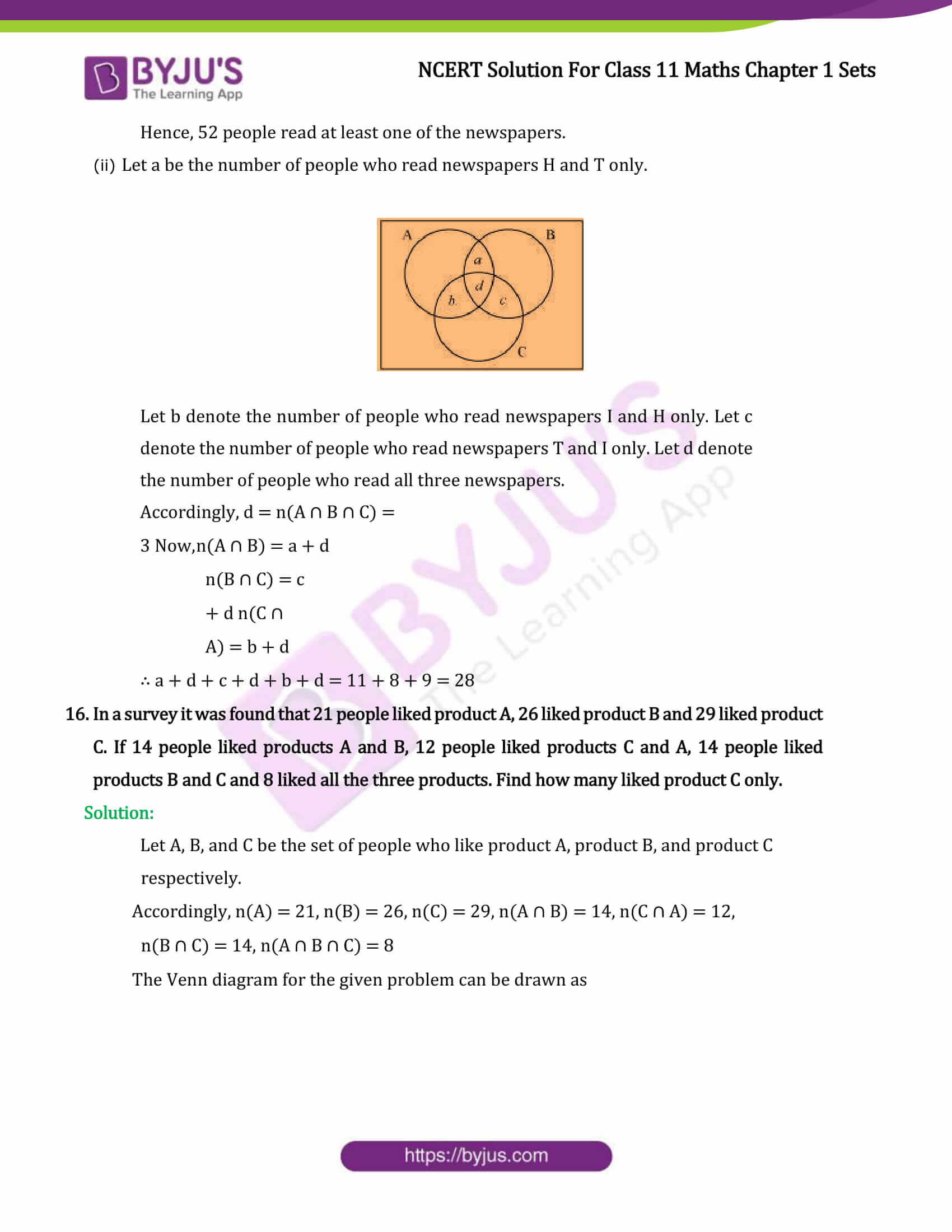 Ncert Solutions For Class 11 Maths Miscellaneous Exercise Chapter 1 Sets Miscellaneous