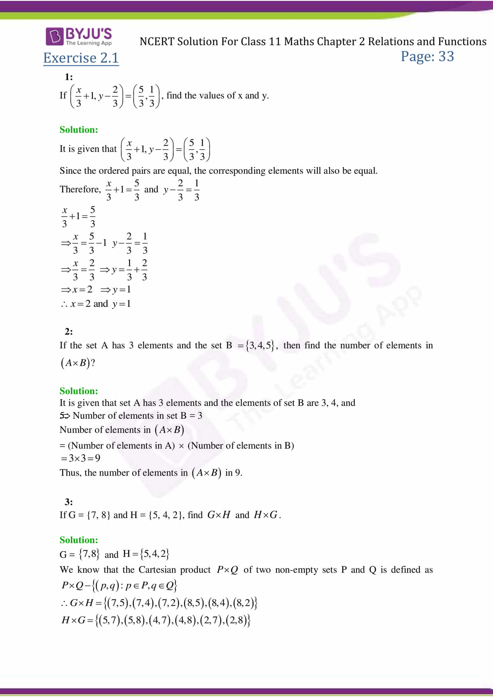 Class 11 Basic Maths