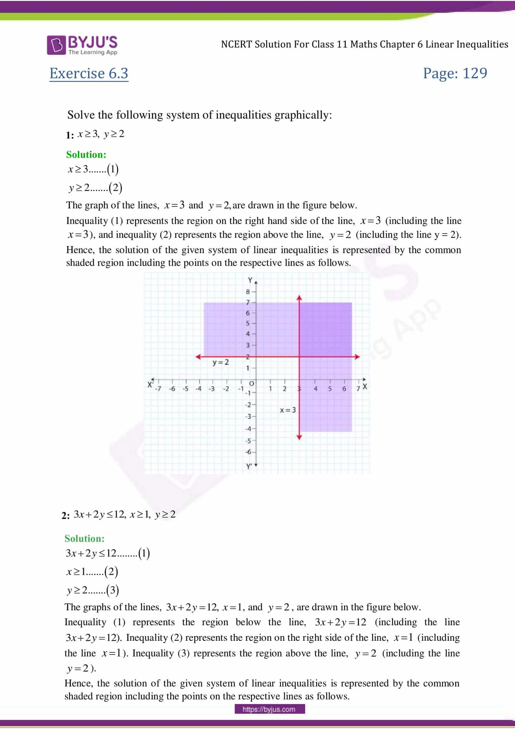 NCERT Solutions Class 11 Maths Chapter 6 Linear Inequalities