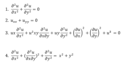 Partial Differential Equation Examples