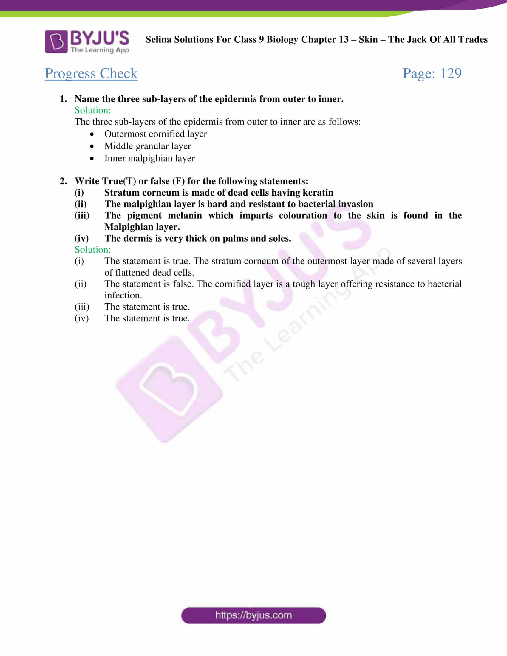 Selina Solutions Class 9 Biology Chapter 13 part 02
