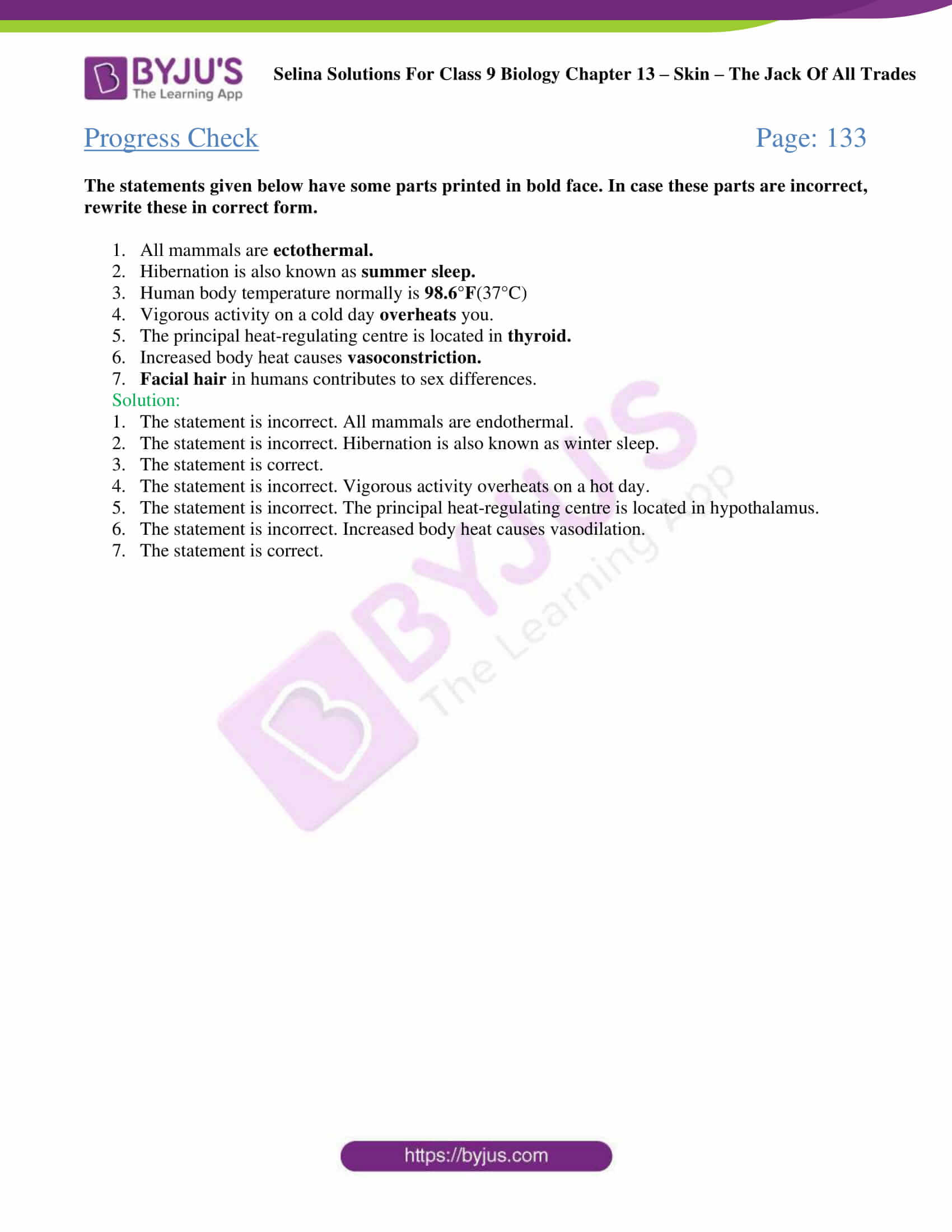 Selina Solutions Class 9 Biology Chapter 13 part 04