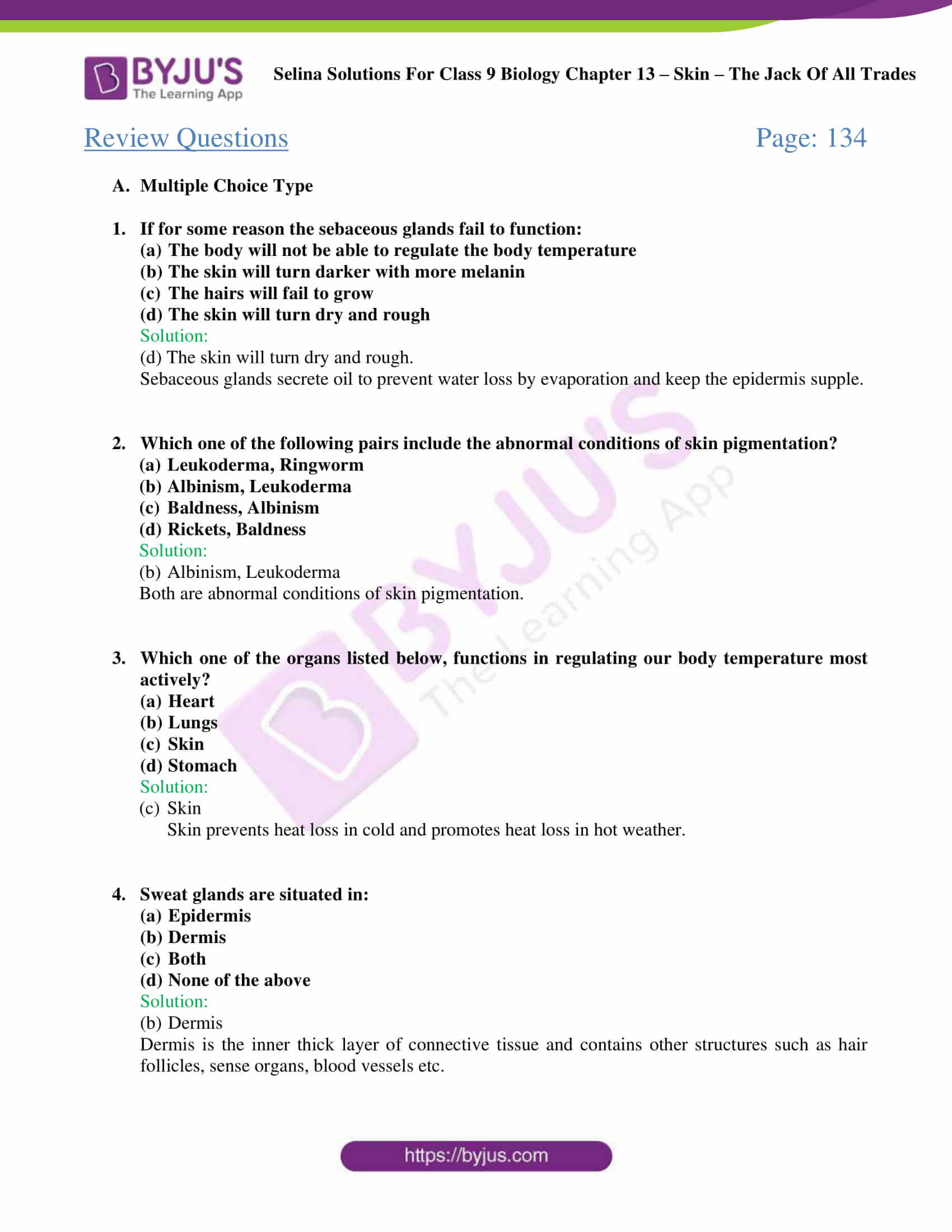 Selina Solutions Class 9 Biology Chapter 13 part 05