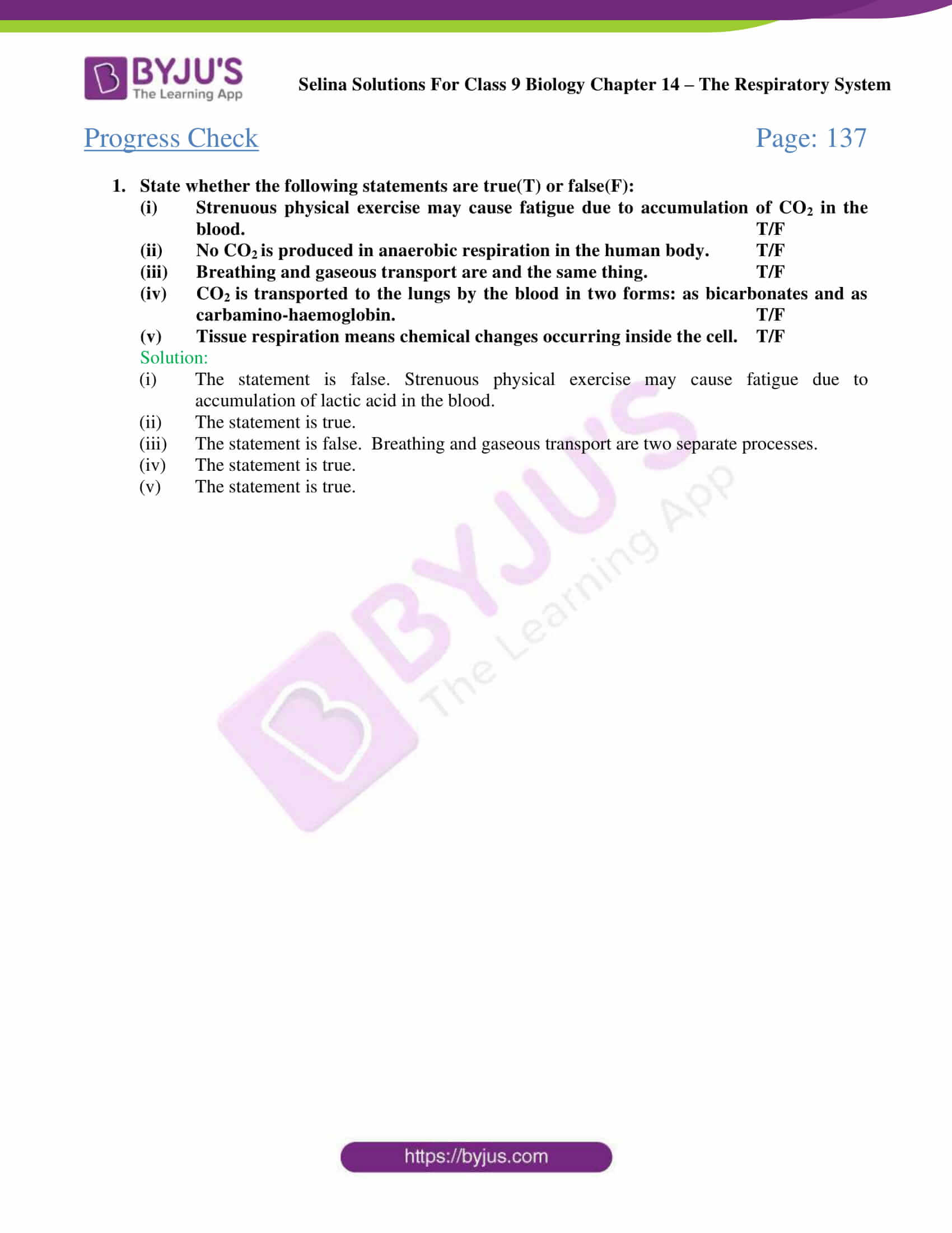 Selina Solutions Class 9 Biology Chapter 14 part 02