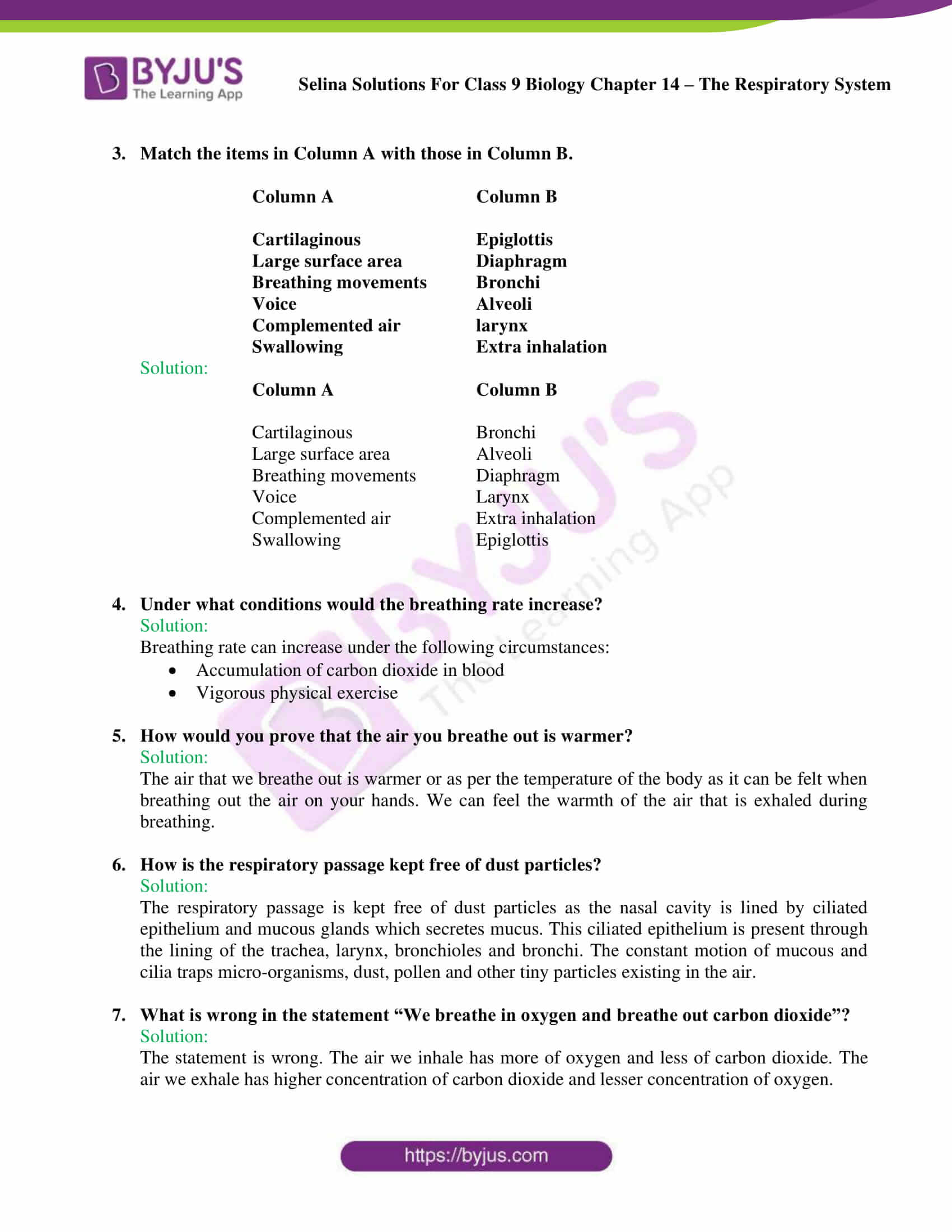 Selina Solutions Class 9 Biology Chapter 14 part 09