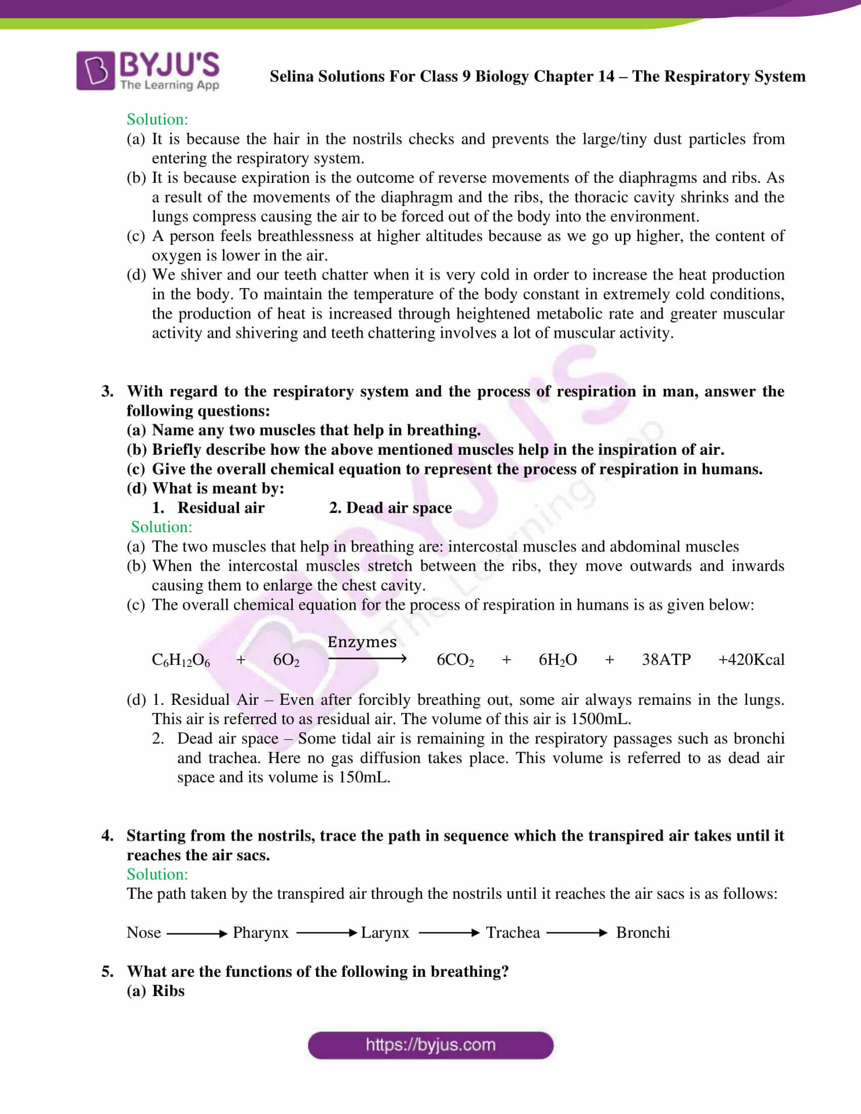 Selina Solutions Class 9 Biology Chapter 14 part 11