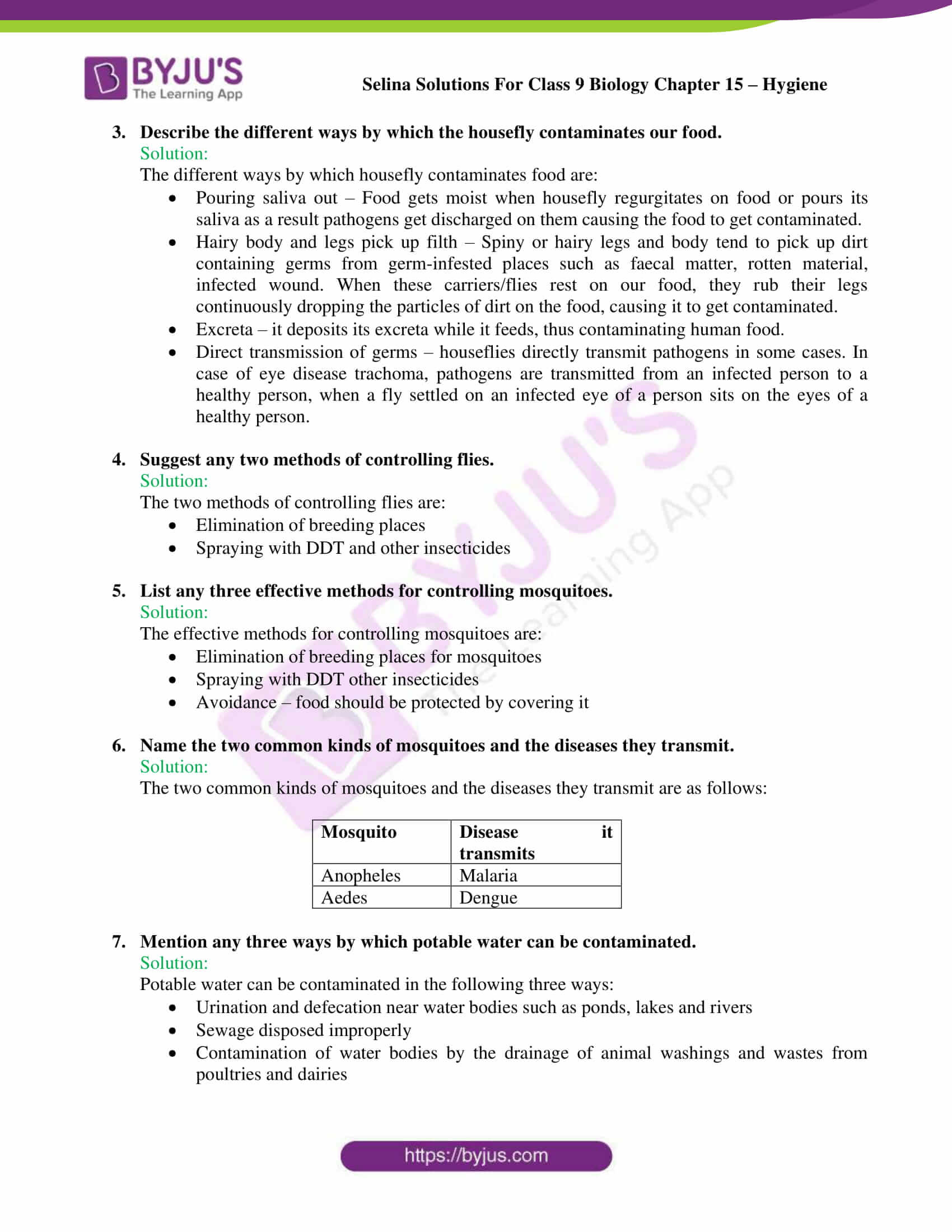 Selina Solutions Class 9 Biology Chapter 15 part 6