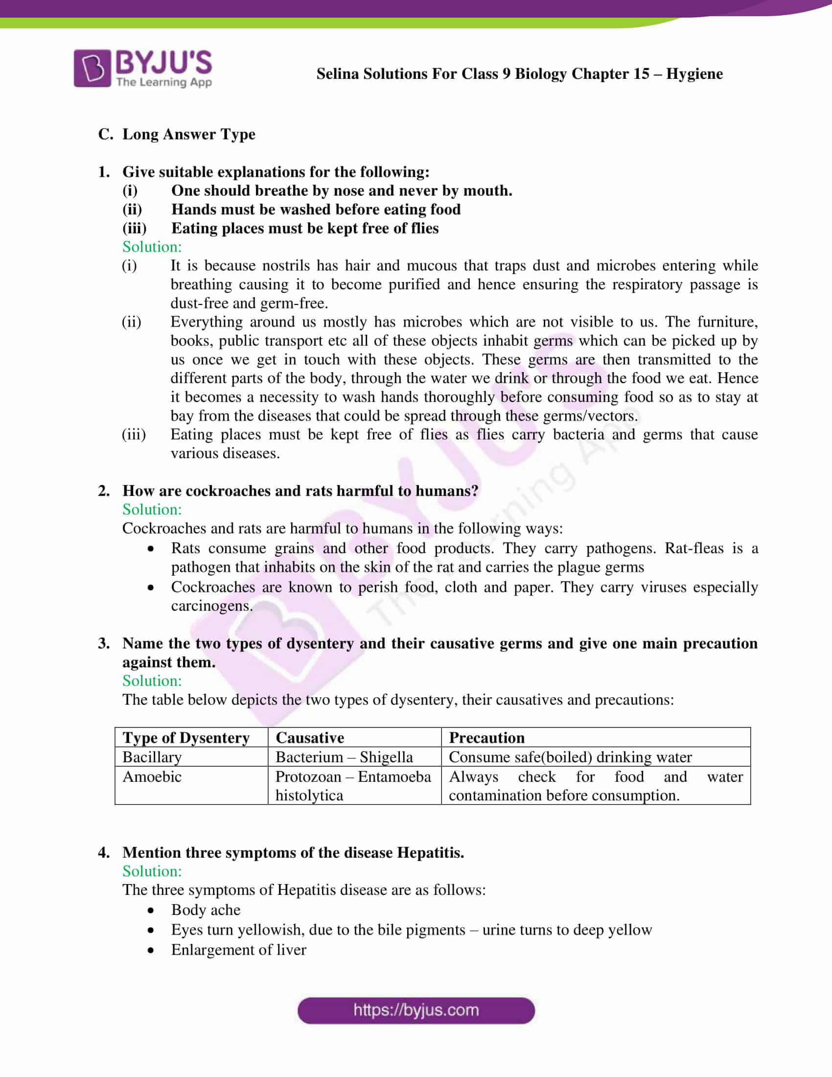 Selina Solutions Class 9 Biology Chapter 15 part 7
