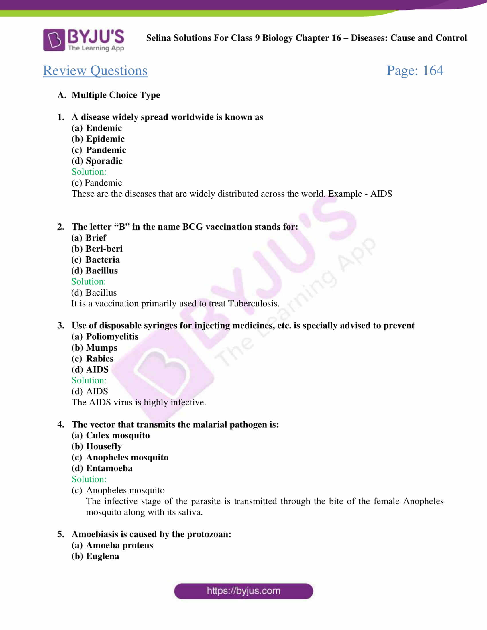 Selina Solutions Class 9 Biology Chapter 16 part 2