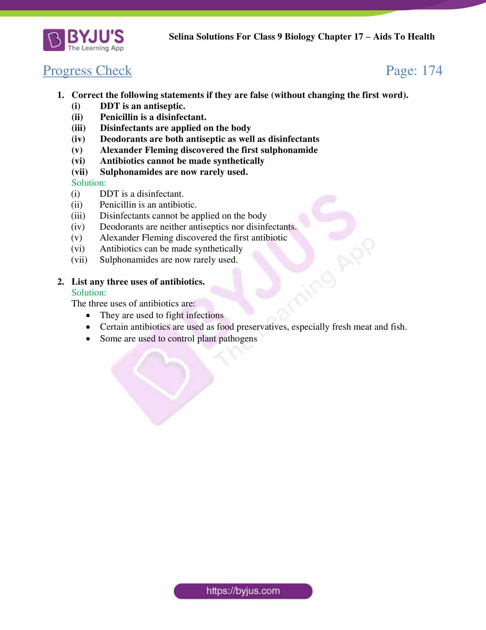 Selina Solutions Class 9 Biology Chapter 17 part 03
