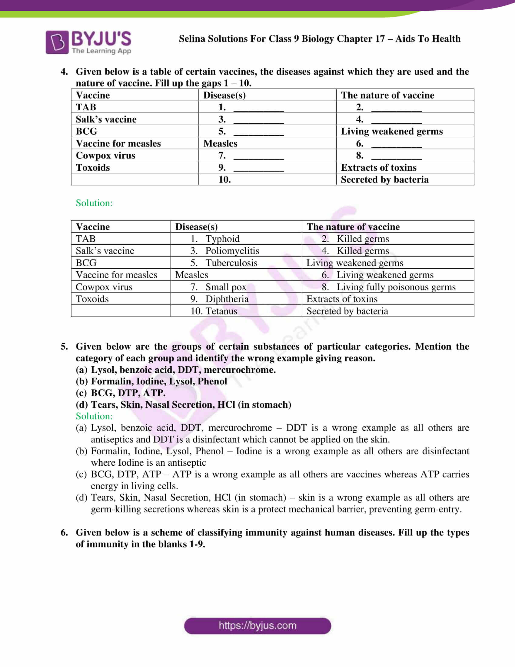 Selina Solutions Class 9 Biology Chapter 17 part 08