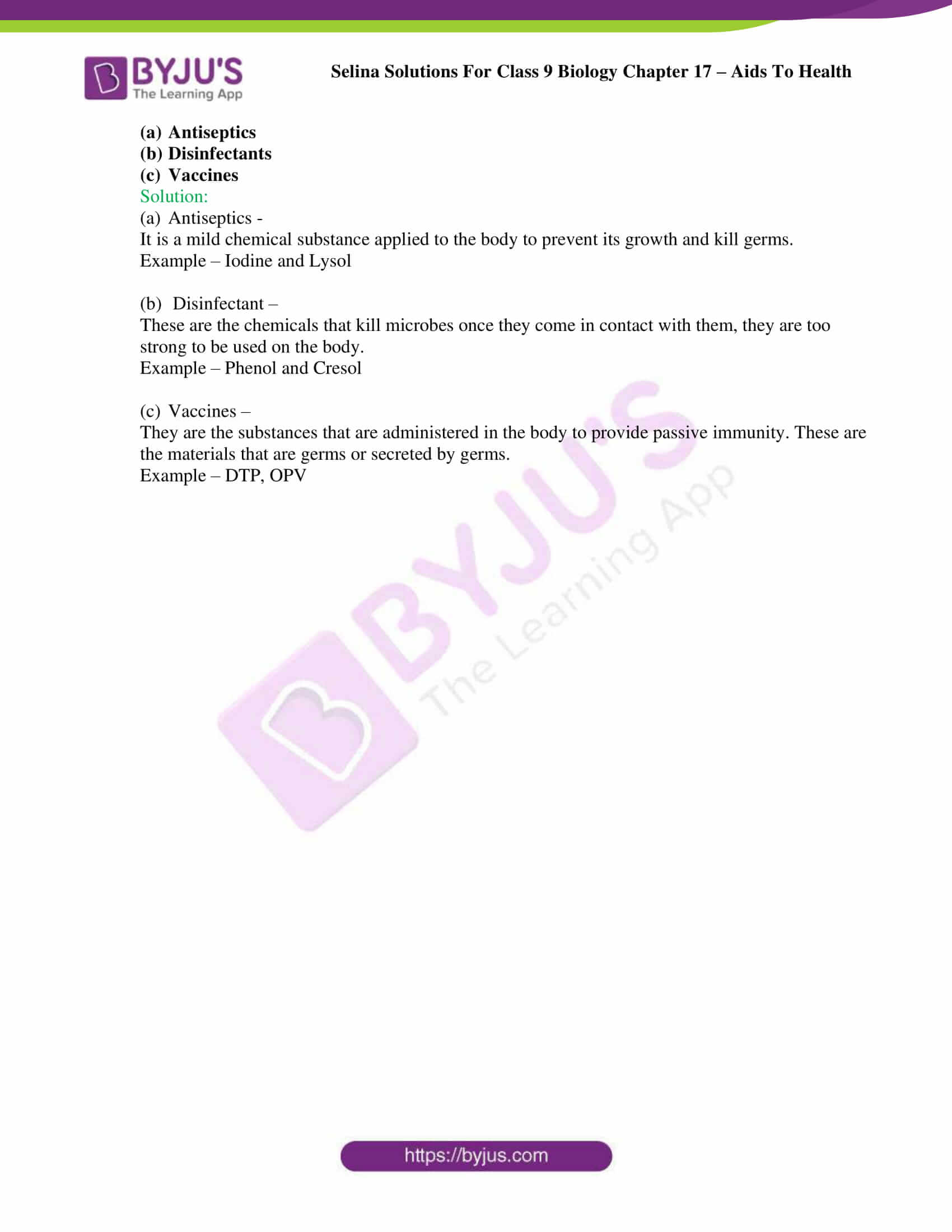 Selina Solutions Class 9 Biology Chapter 17 part 11