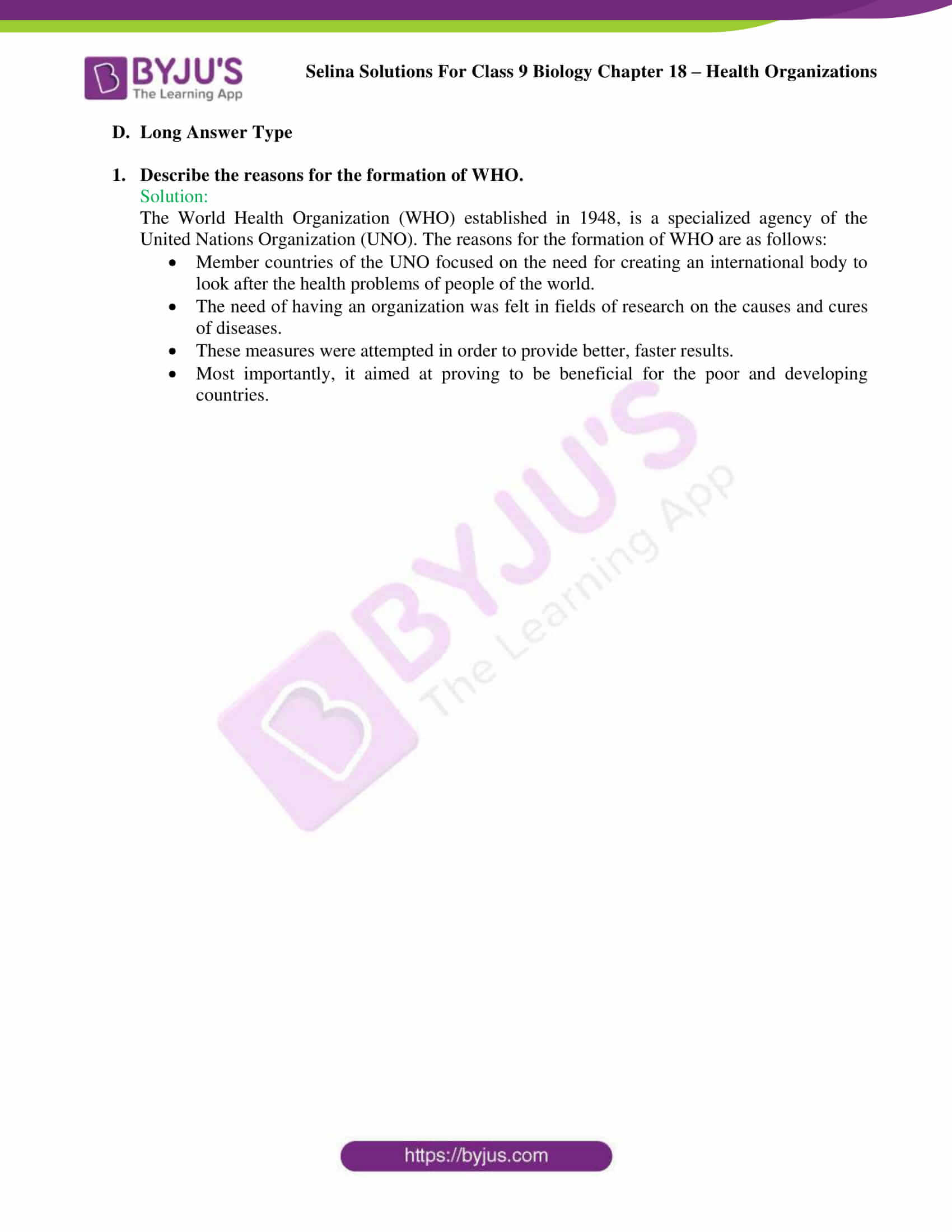 Selina Solutions Class 9 Biology Chapter 18 part 5