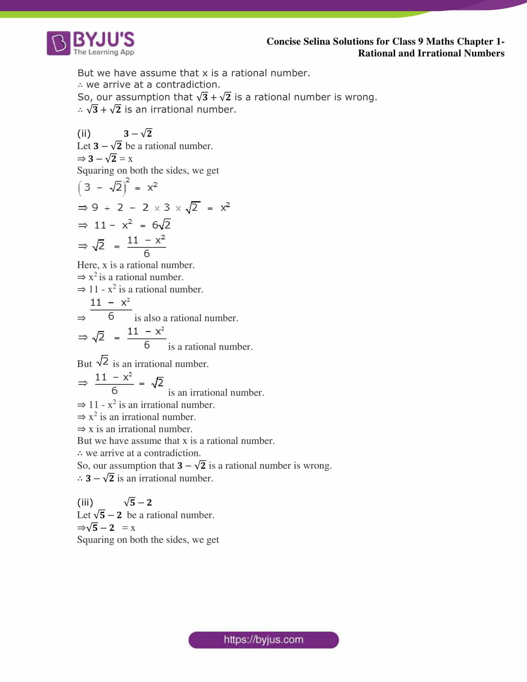 Selina Solutions Class 9 Maths Chapter 1 Rational And Irrational Numbers part 11