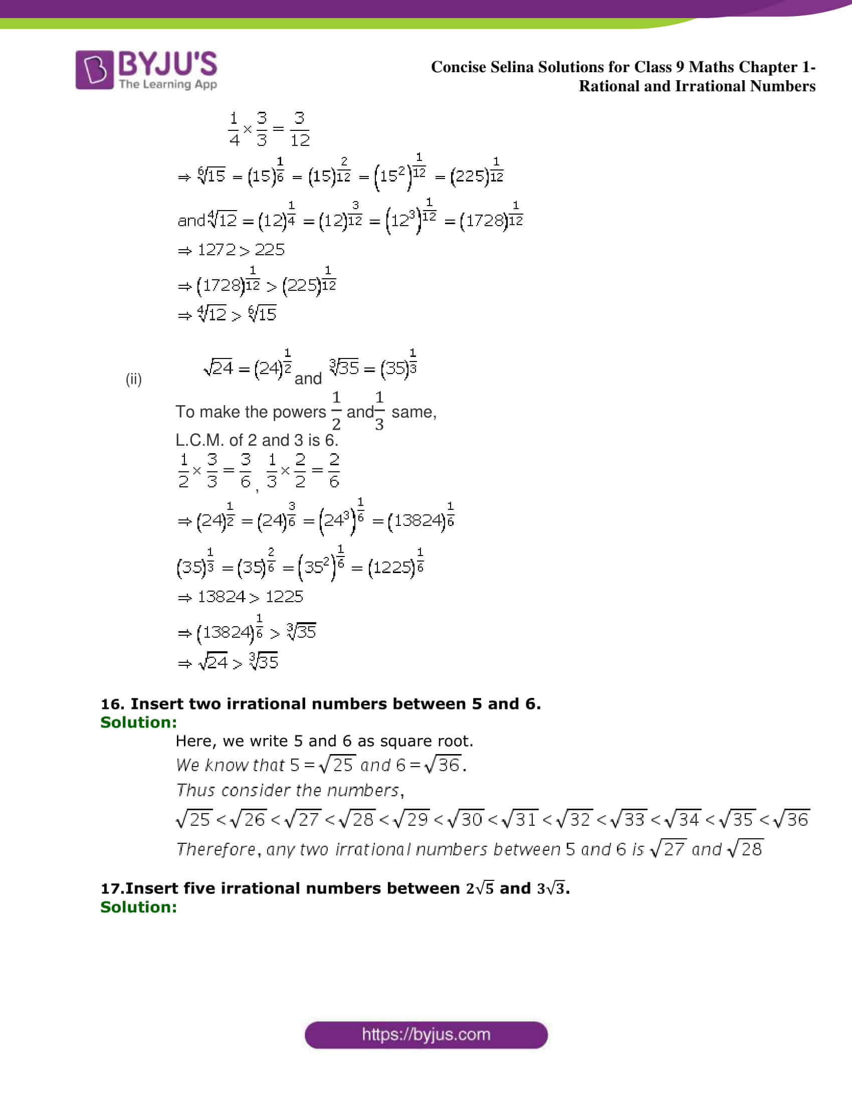 Selina Solutions Class 9 Maths Chapter 1 Rational And Irrational Numbers part 15