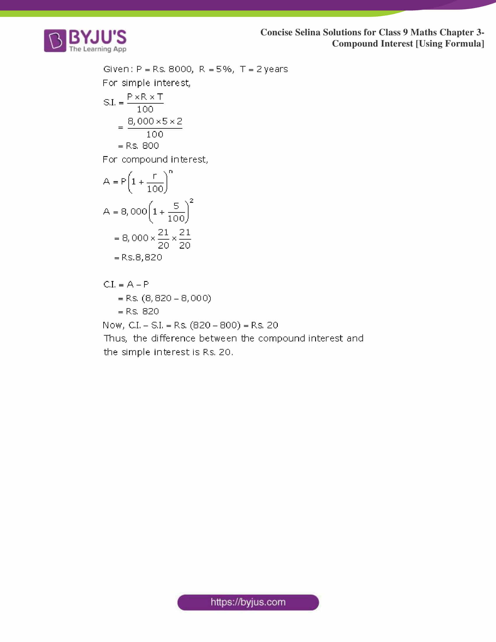Selina Solutions Class 9 Maths Chapter 3 Compound Interest Using Formula part 12