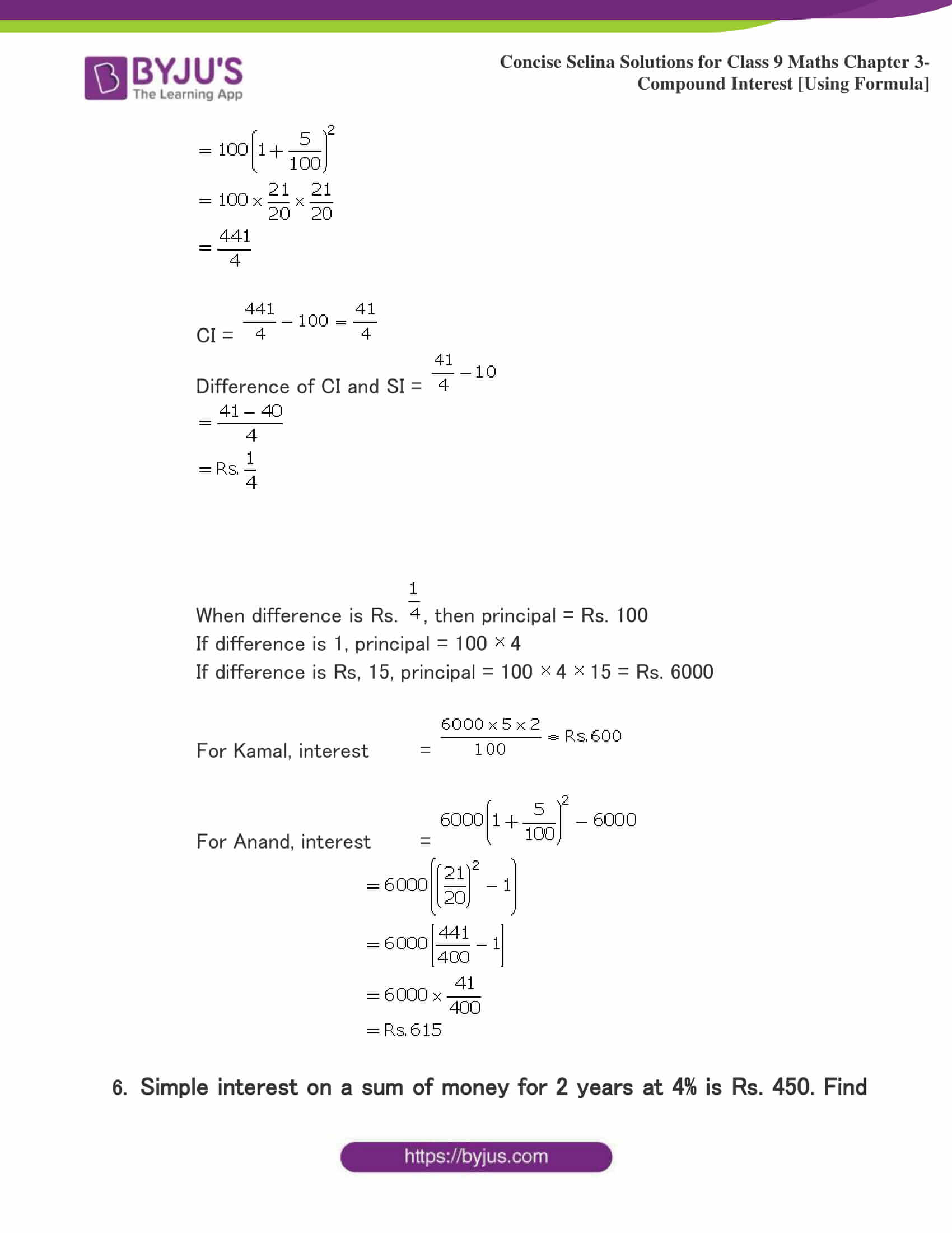 Selina Solutions Class 9 Maths Chapter 3 Compound Interest Using Formula part 17