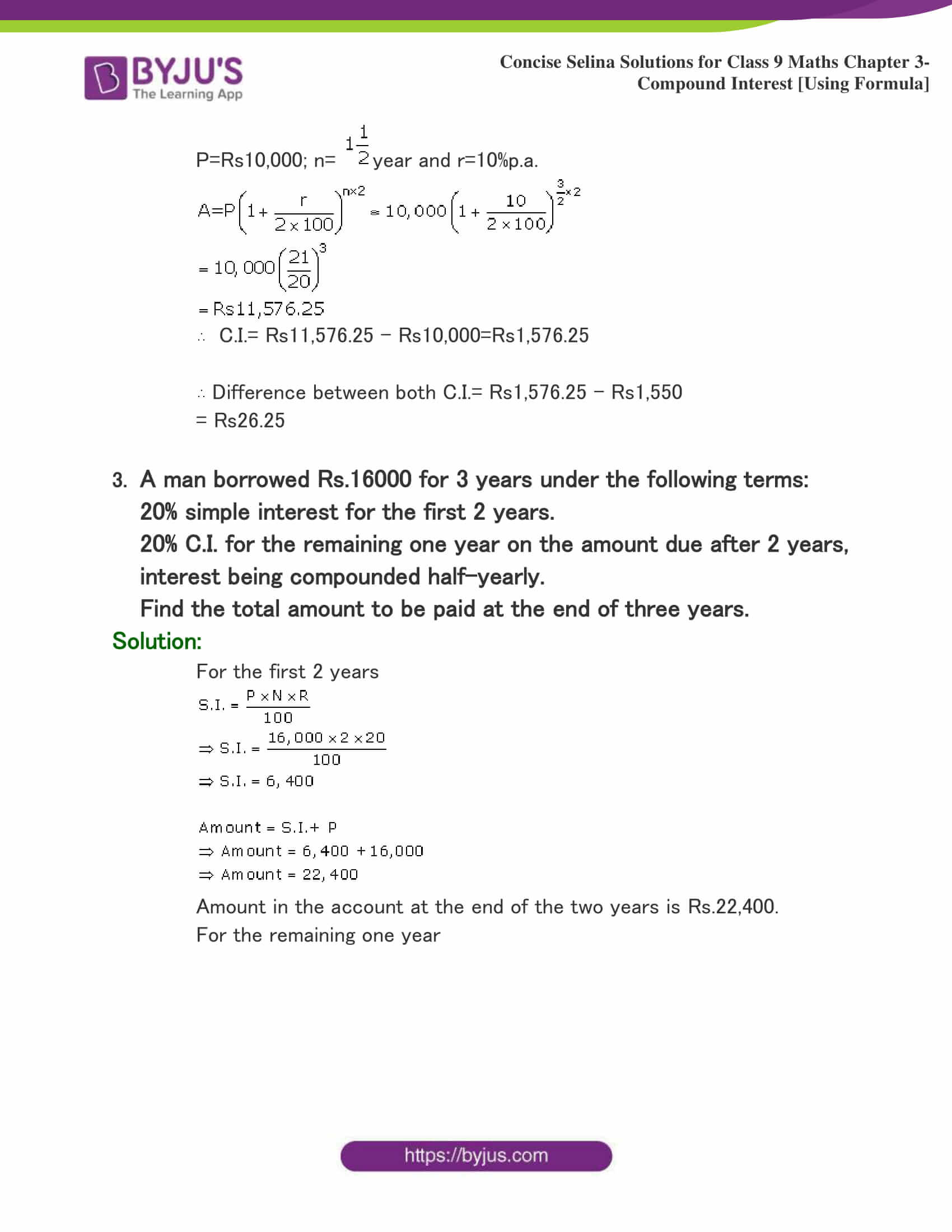 Selina Solutions Class 9 Maths Chapter 3 Compound Interest Using Formula part 23
