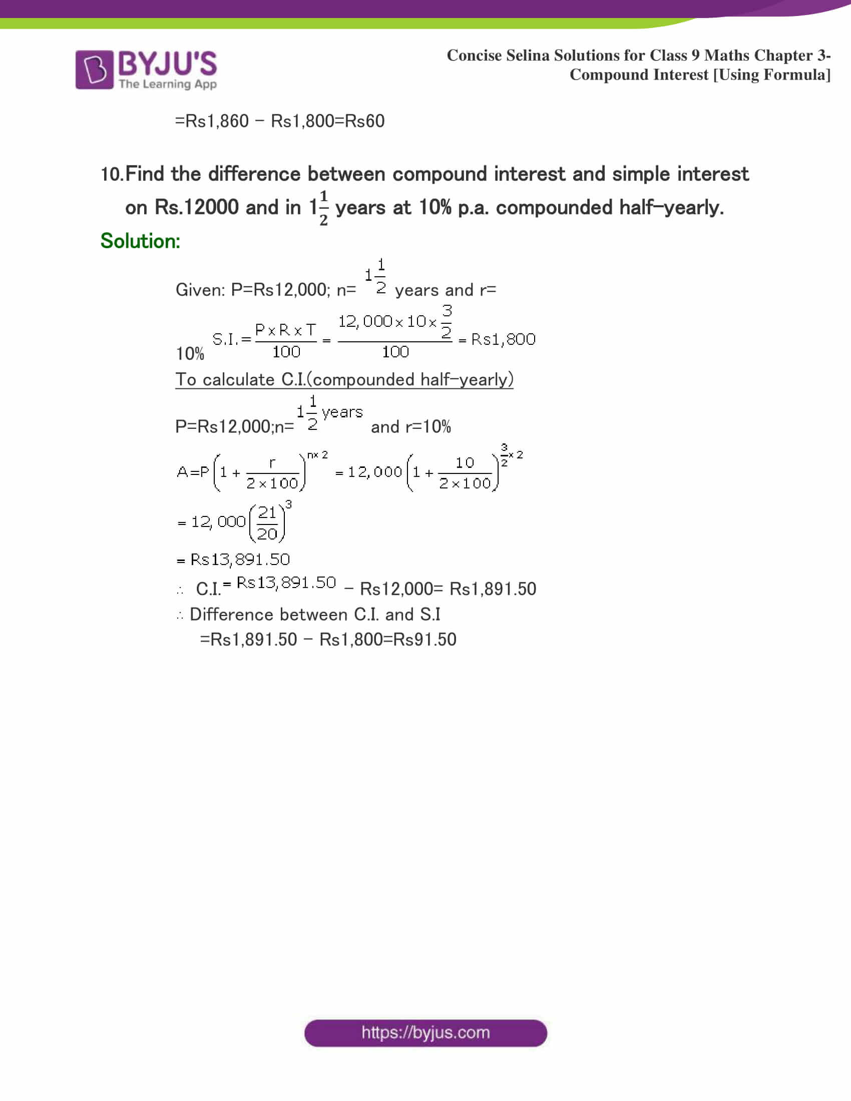 Selina Solutions Class 9 Maths Chapter 3 Compound Interest Using Formula part 28