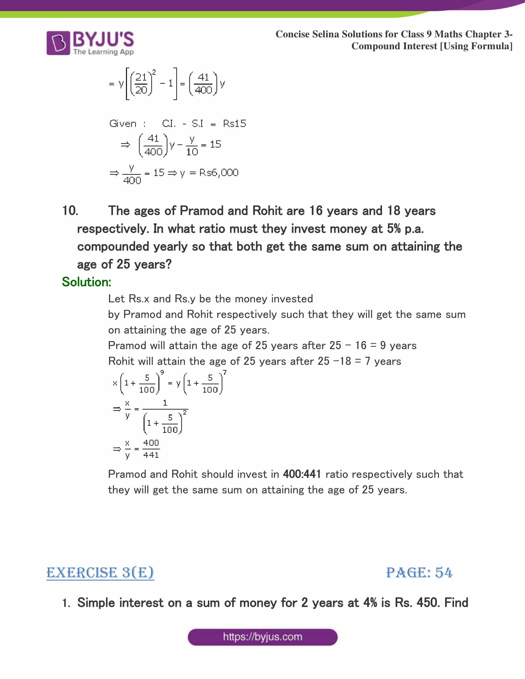 Selina Solutions Class 9 Maths Chapter 3 Compound Interest Using Formula part 35