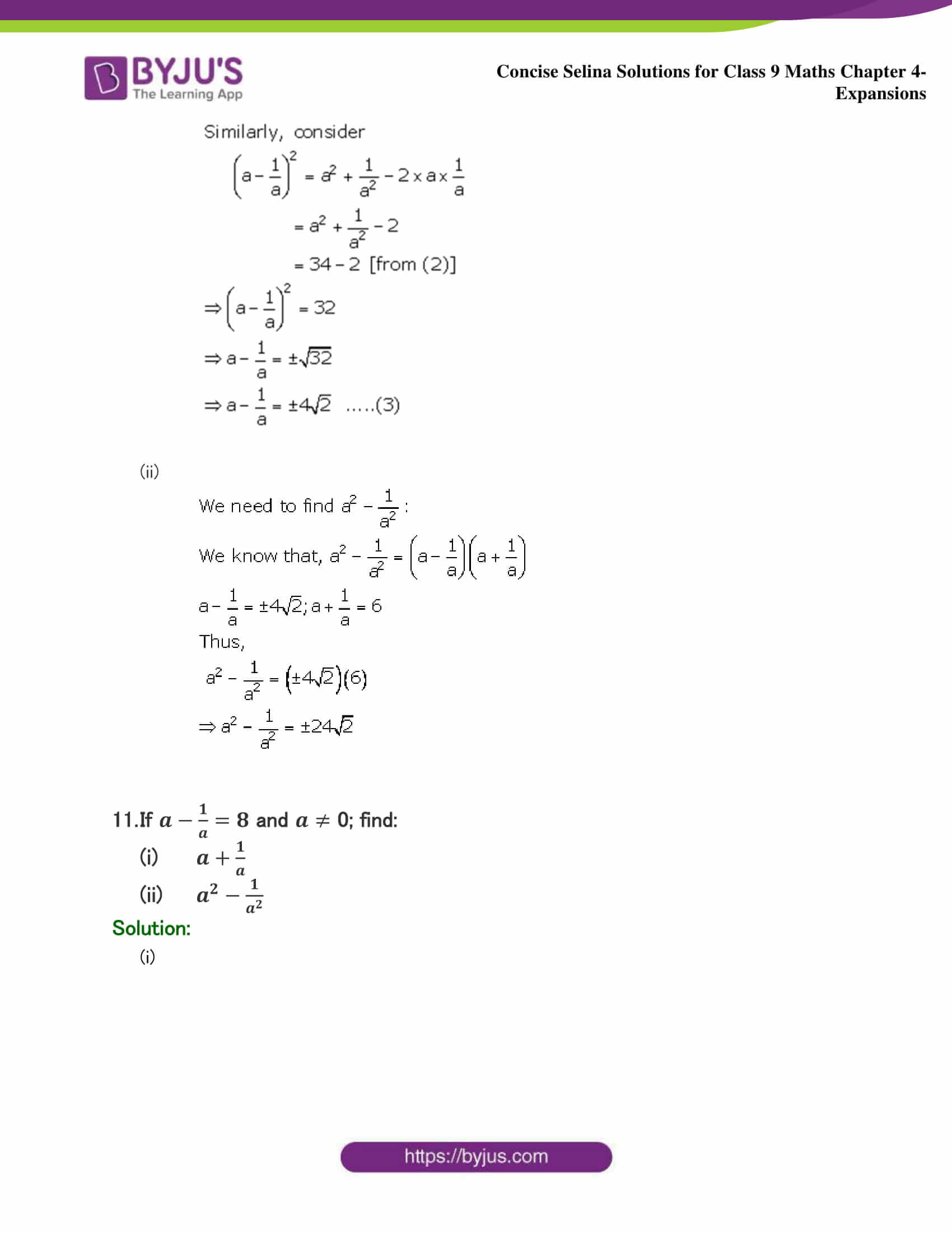 Selina Solutions Class 9 Maths Chapter 4 Expansions part 10