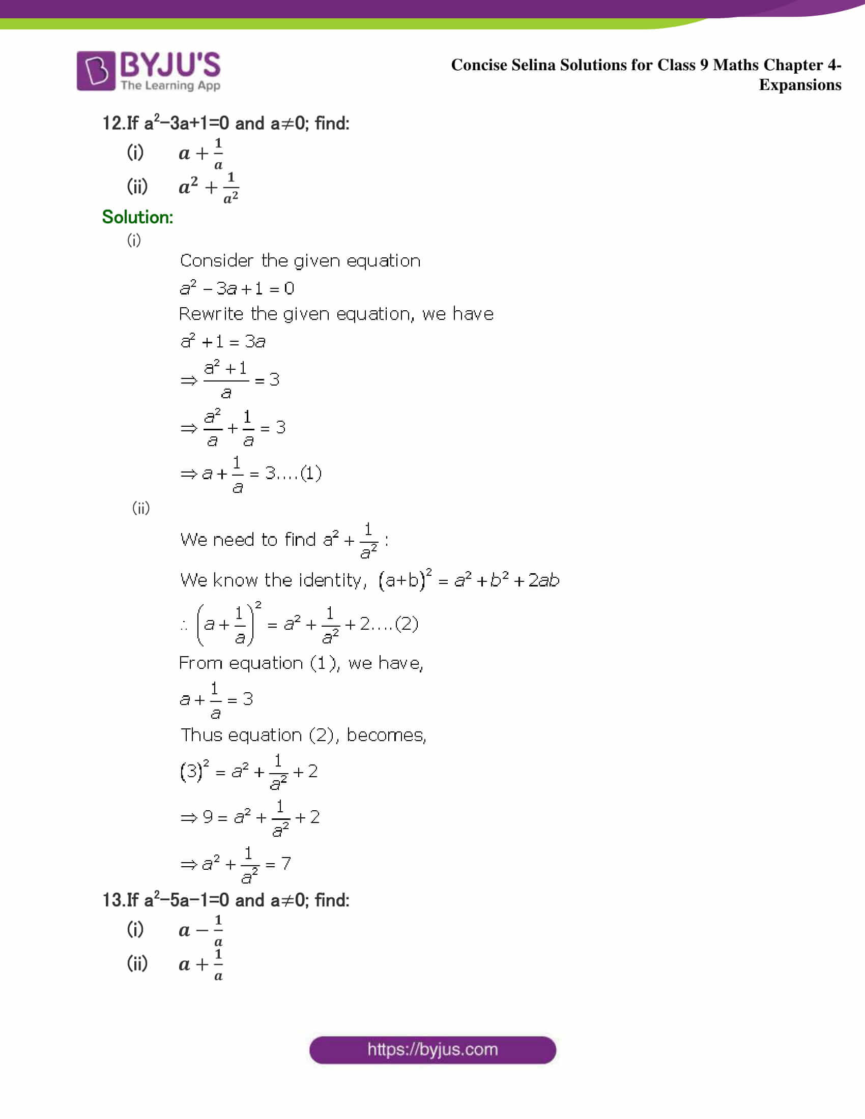 Selina Solutions Class 9 Maths Chapter 4 Expansions part 12