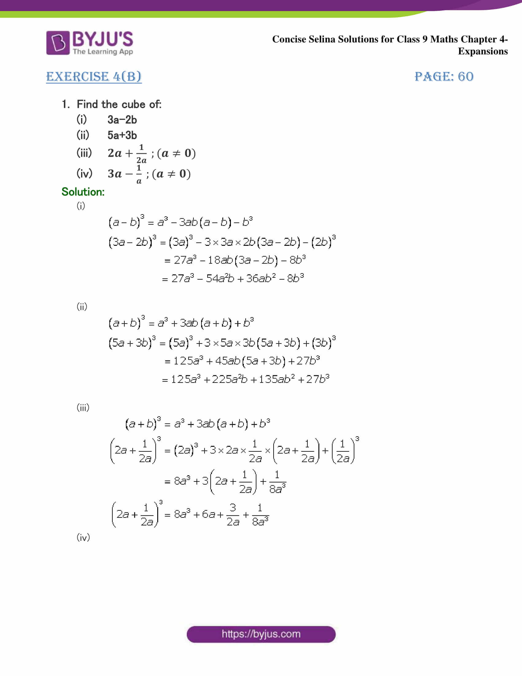 Selina Solutions Class 9 Maths Chapter 4 Expansions part 16
