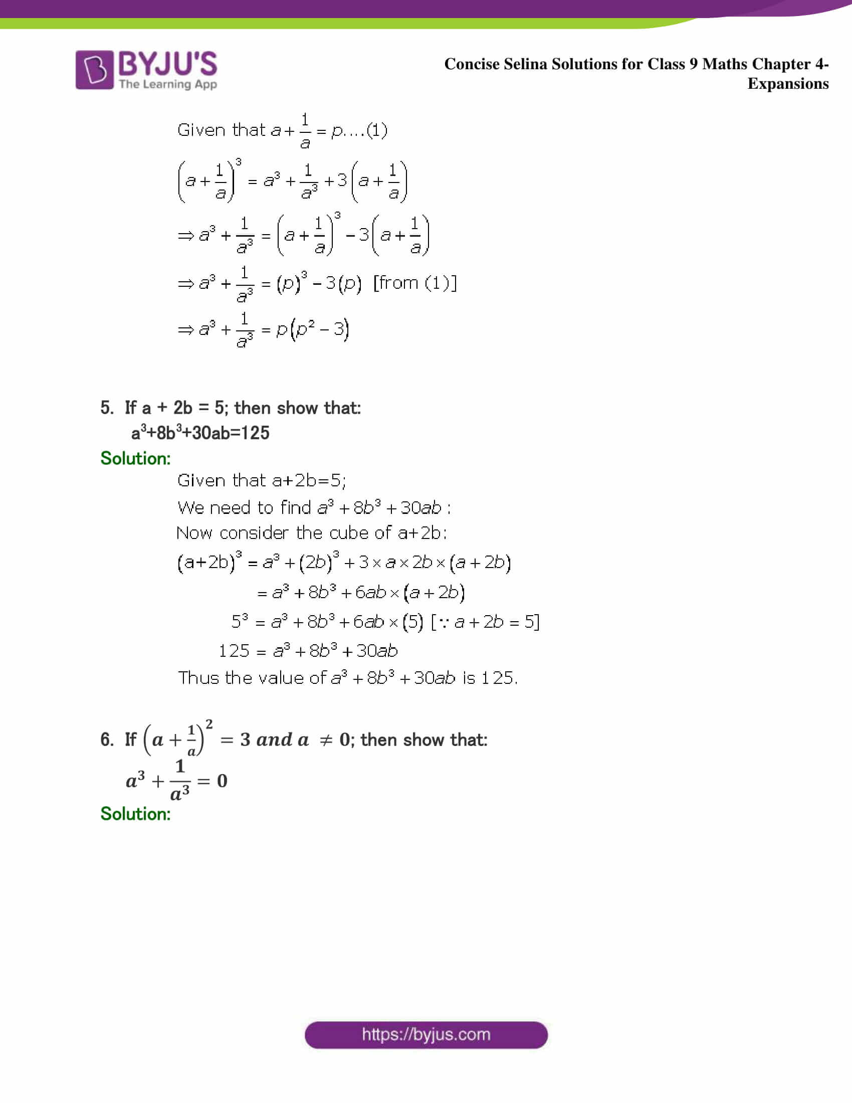 Selina Solutions Class 9 Maths Chapter 4 Expansions part 19