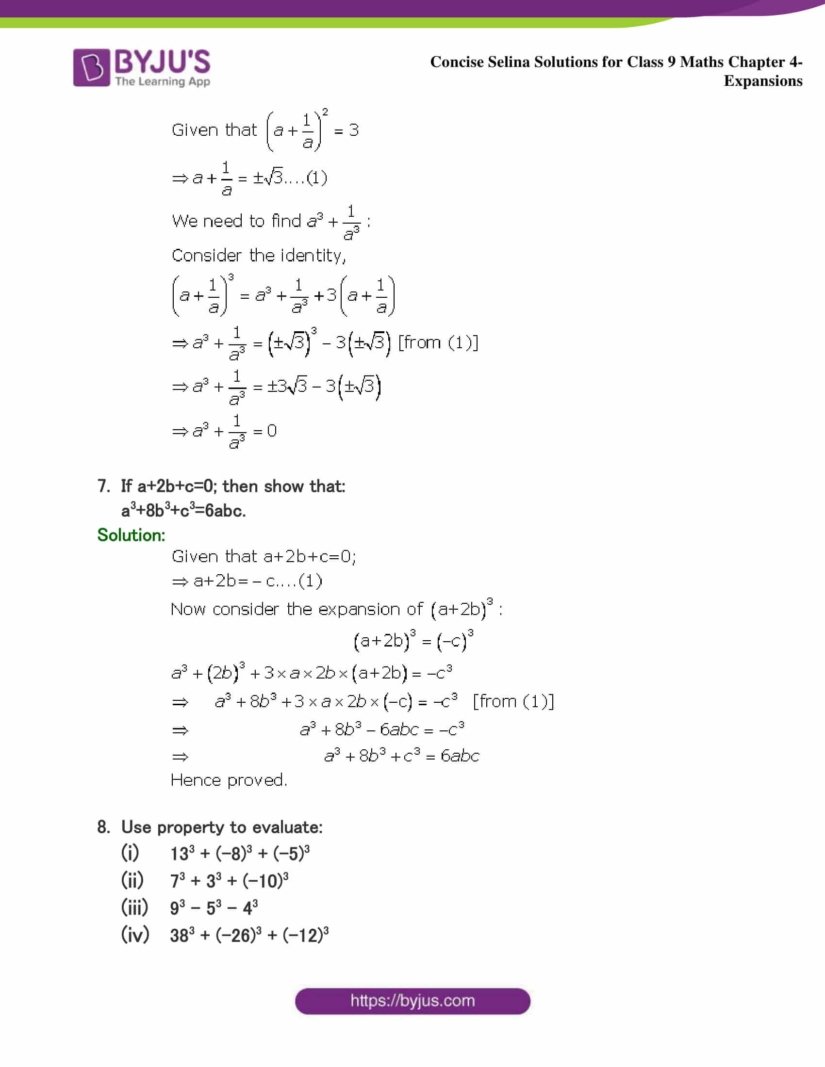 Selina Solutions Class 9 Maths Chapter 4 Expansions part 20