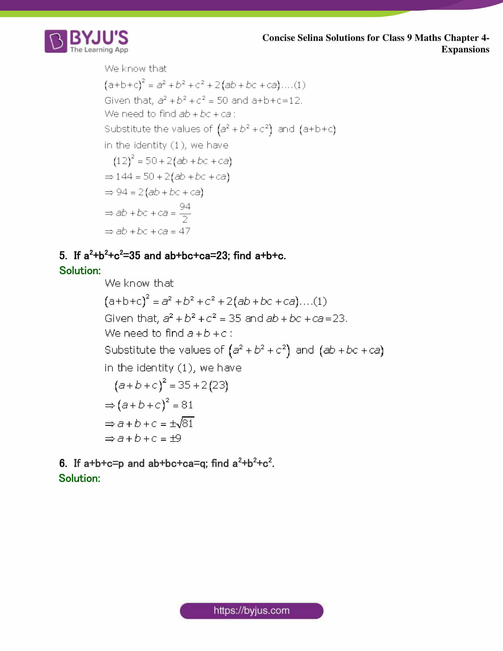 Selina Solutions Class 9 Maths Chapter 4 Expansions part 28