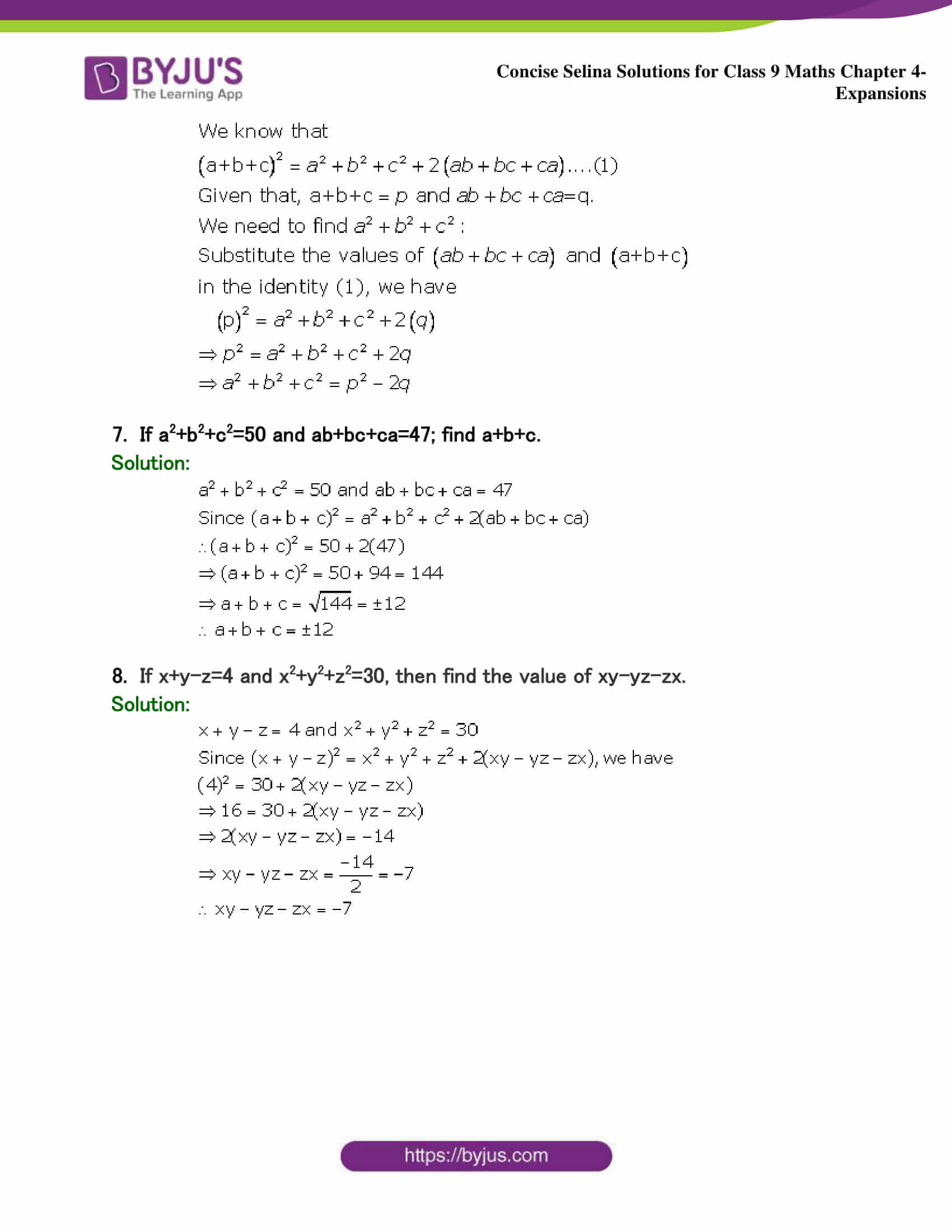 Selina Solutions Class 9 Maths Chapter 4 Expansions part 29