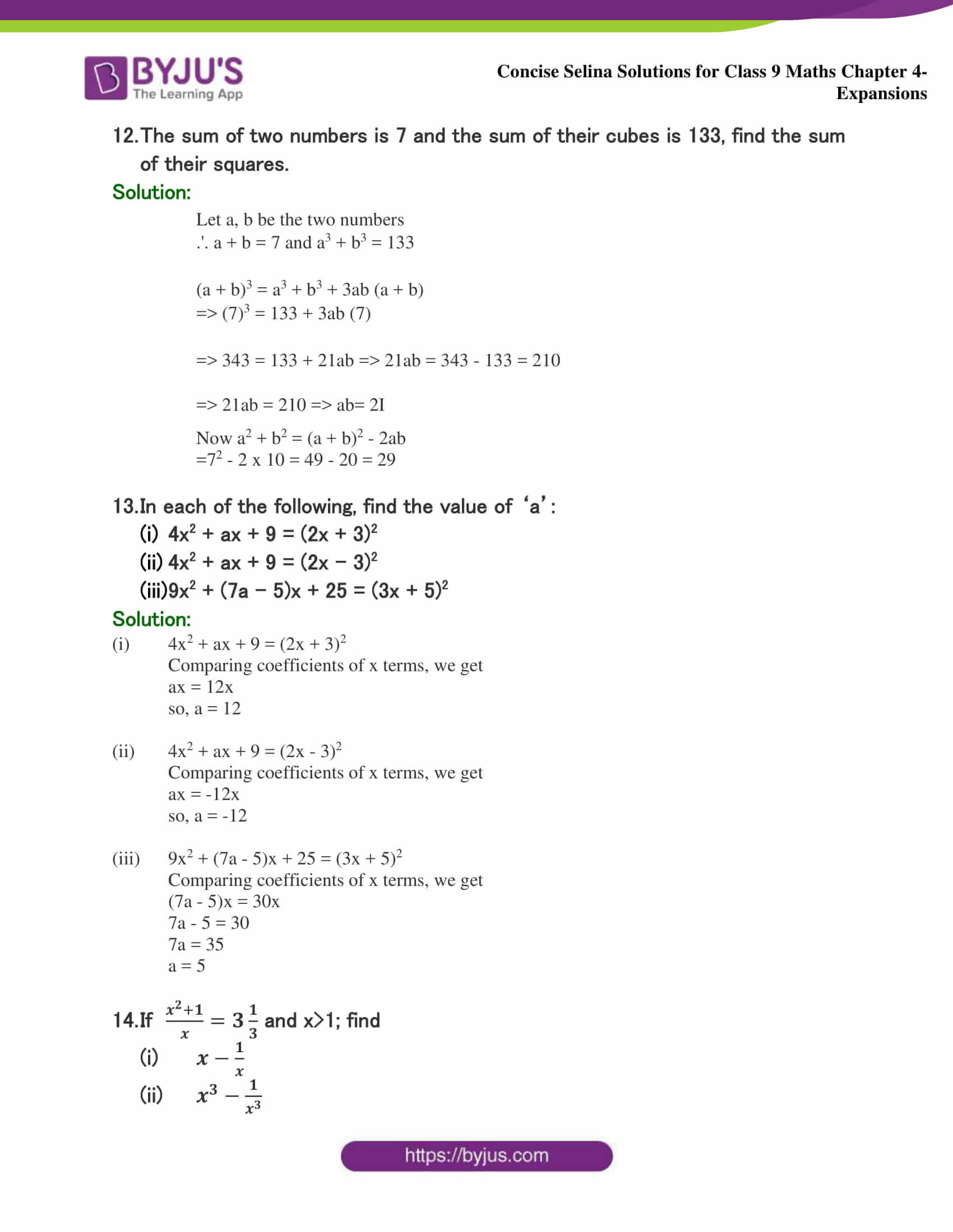 Selina Solutions Class 9 Maths Chapter 4 Expansions part 38