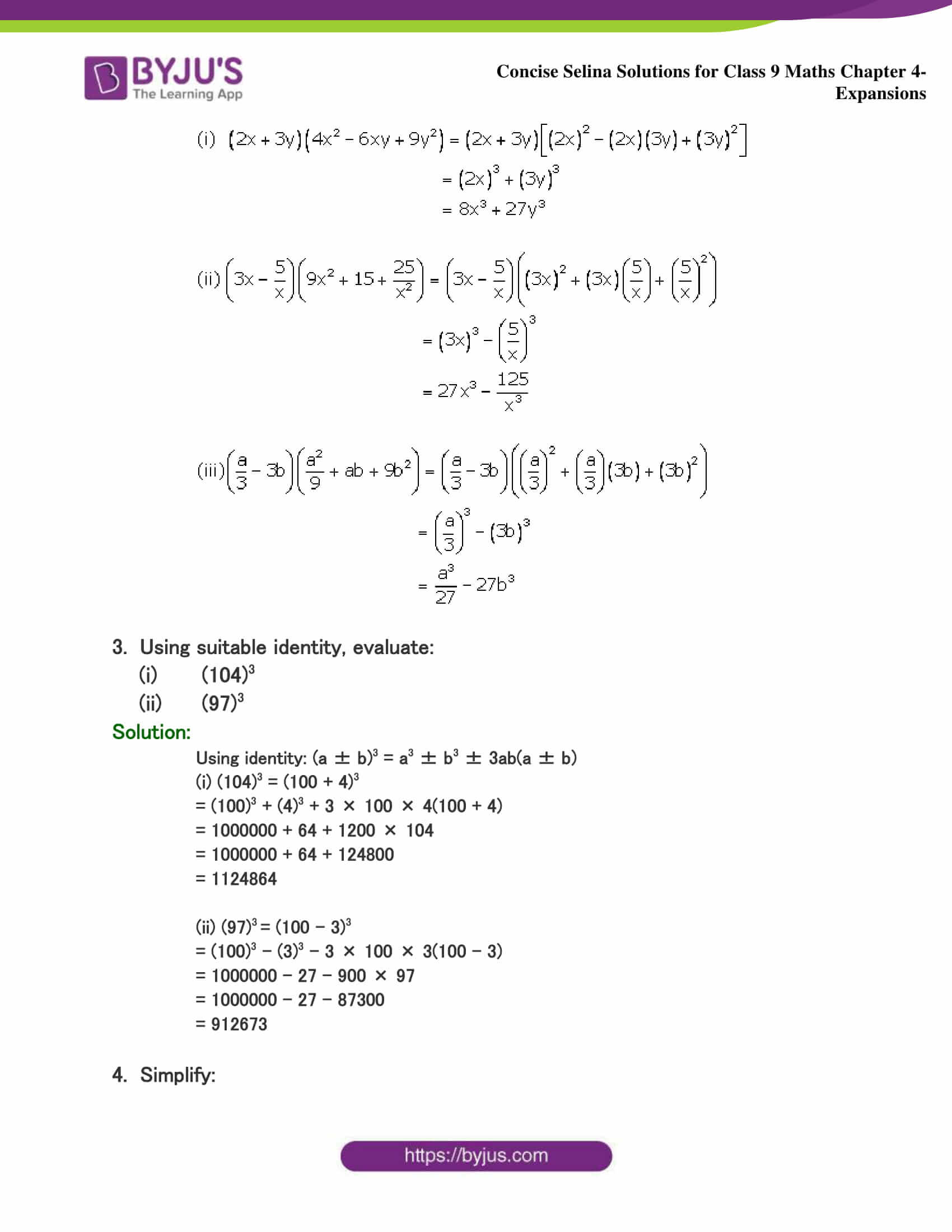 Selina Solutions Class 9 Maths Chapter 4 Expansions part 42
