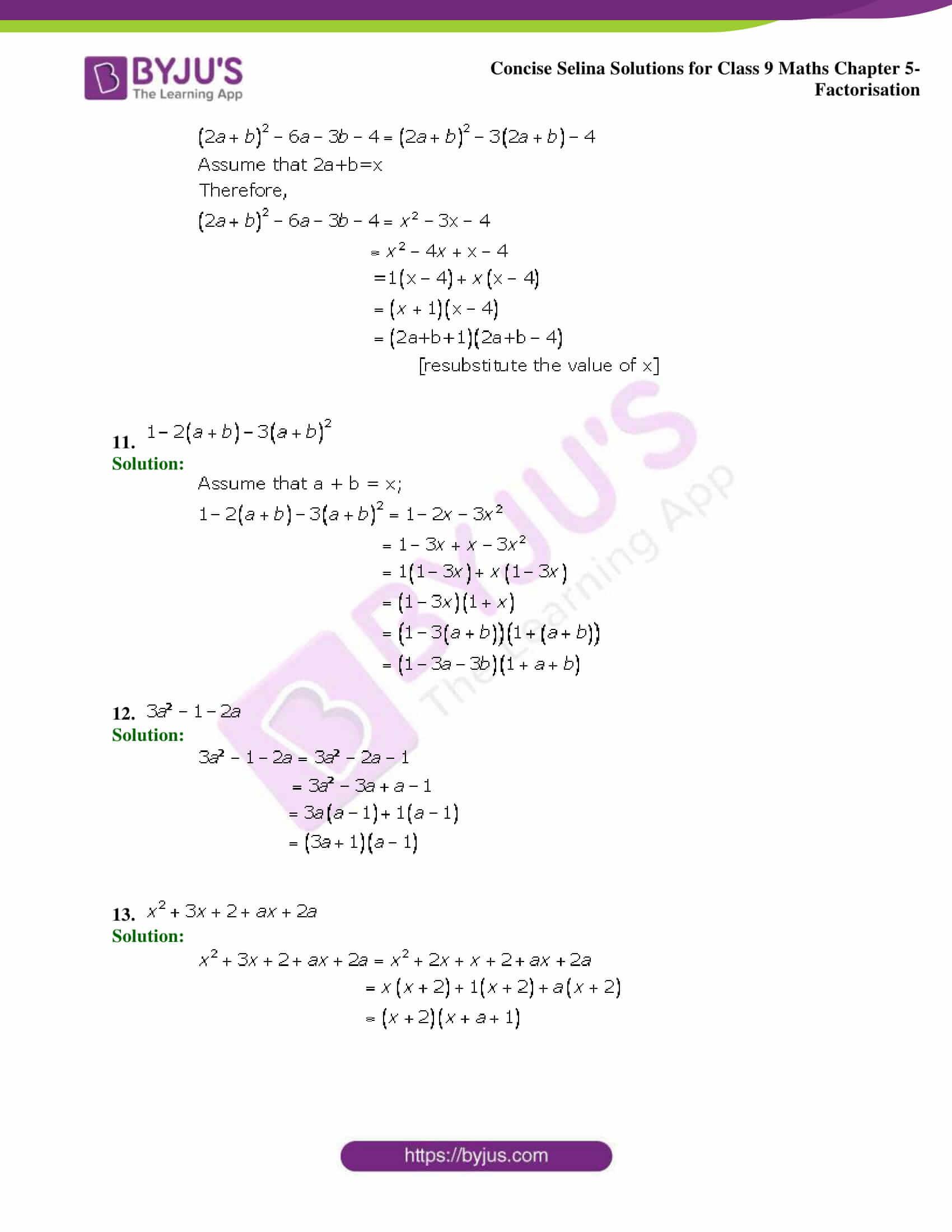 Selina Solutions Class 9 Maths Chapter 5 Factorisation part 07