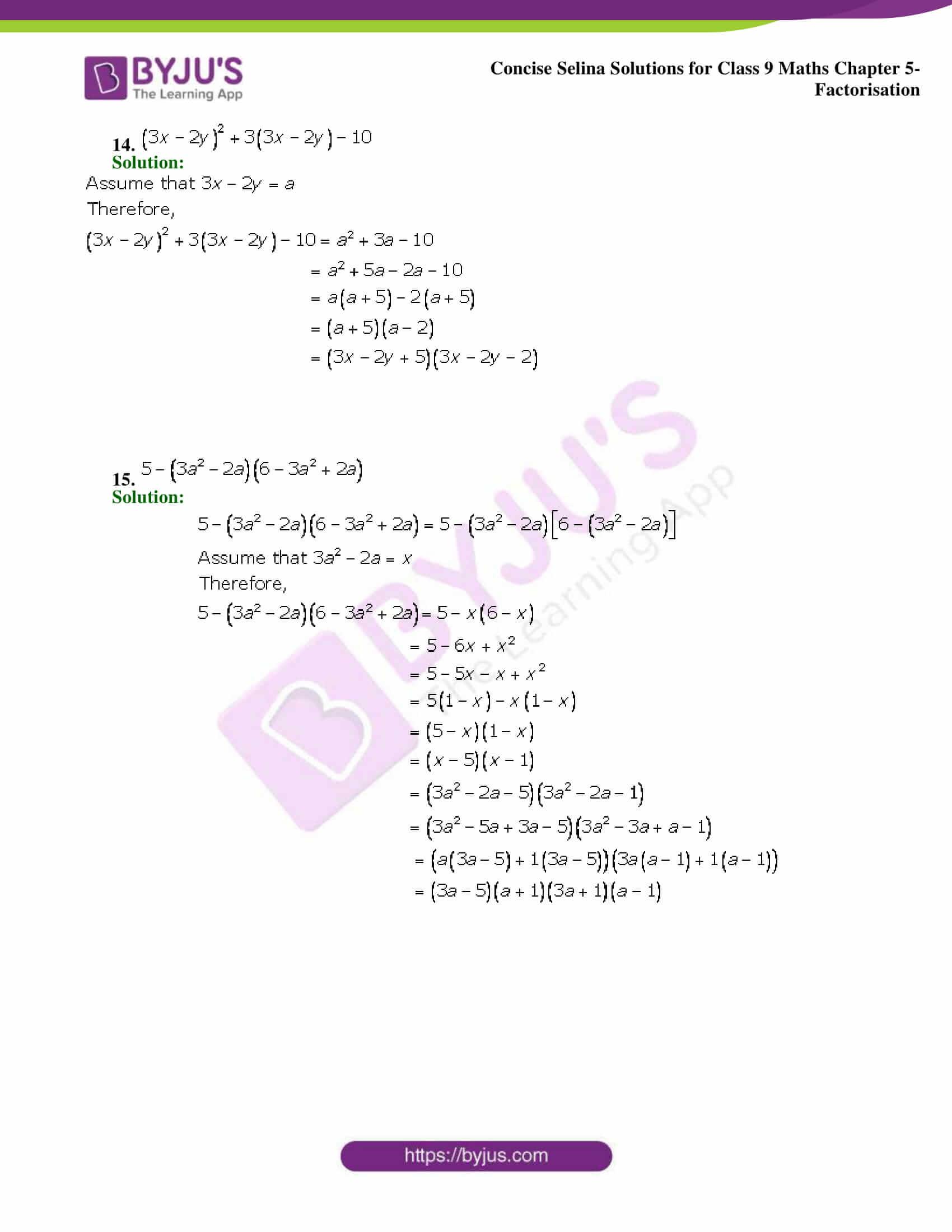 Selina Solutions Class 9 Maths Chapter 5 Factorisation part 08
