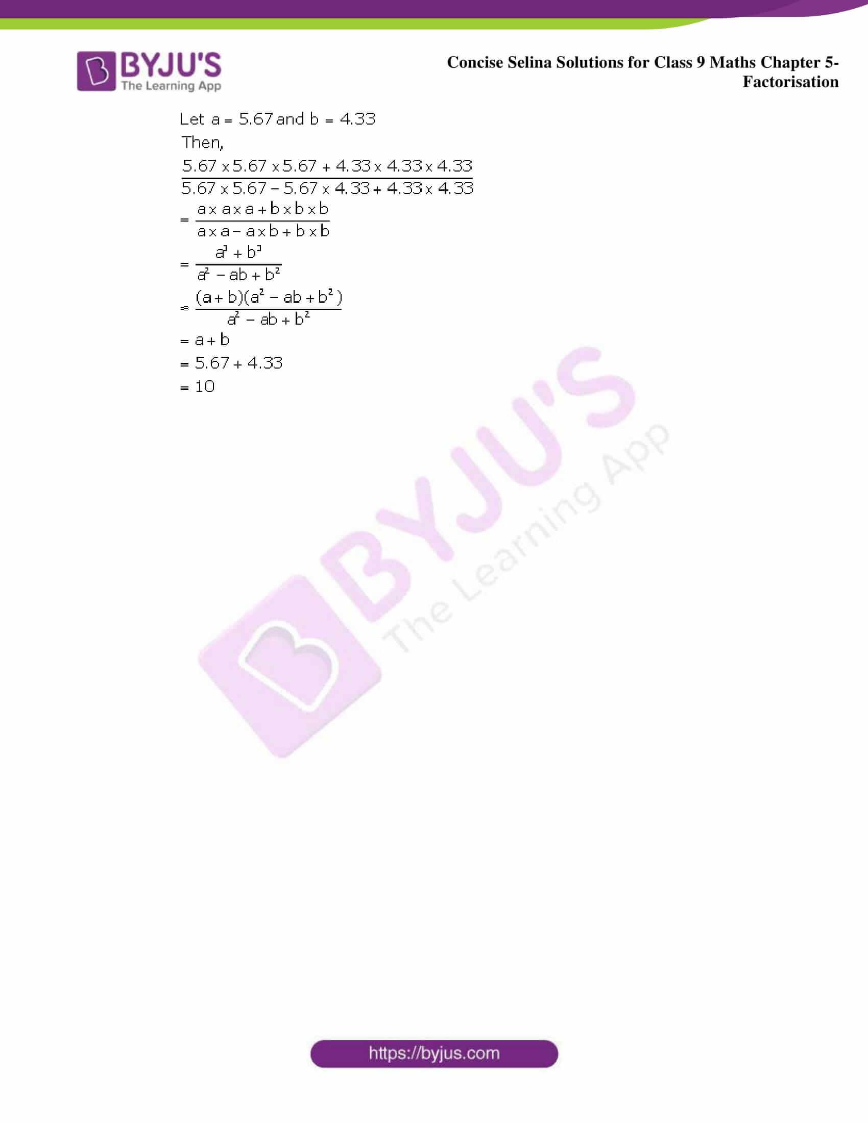 Selina Solutions Class 9 Maths Chapter 5 Factorisation part 25