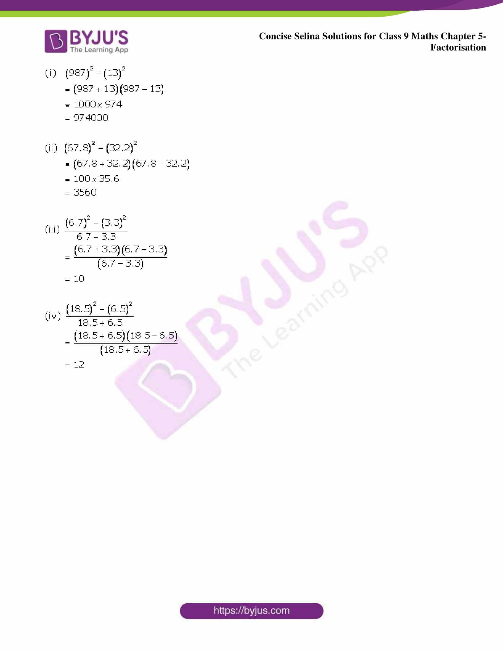 Selina Solutions Class 9 Maths Chapter 5 Factorisation part 33