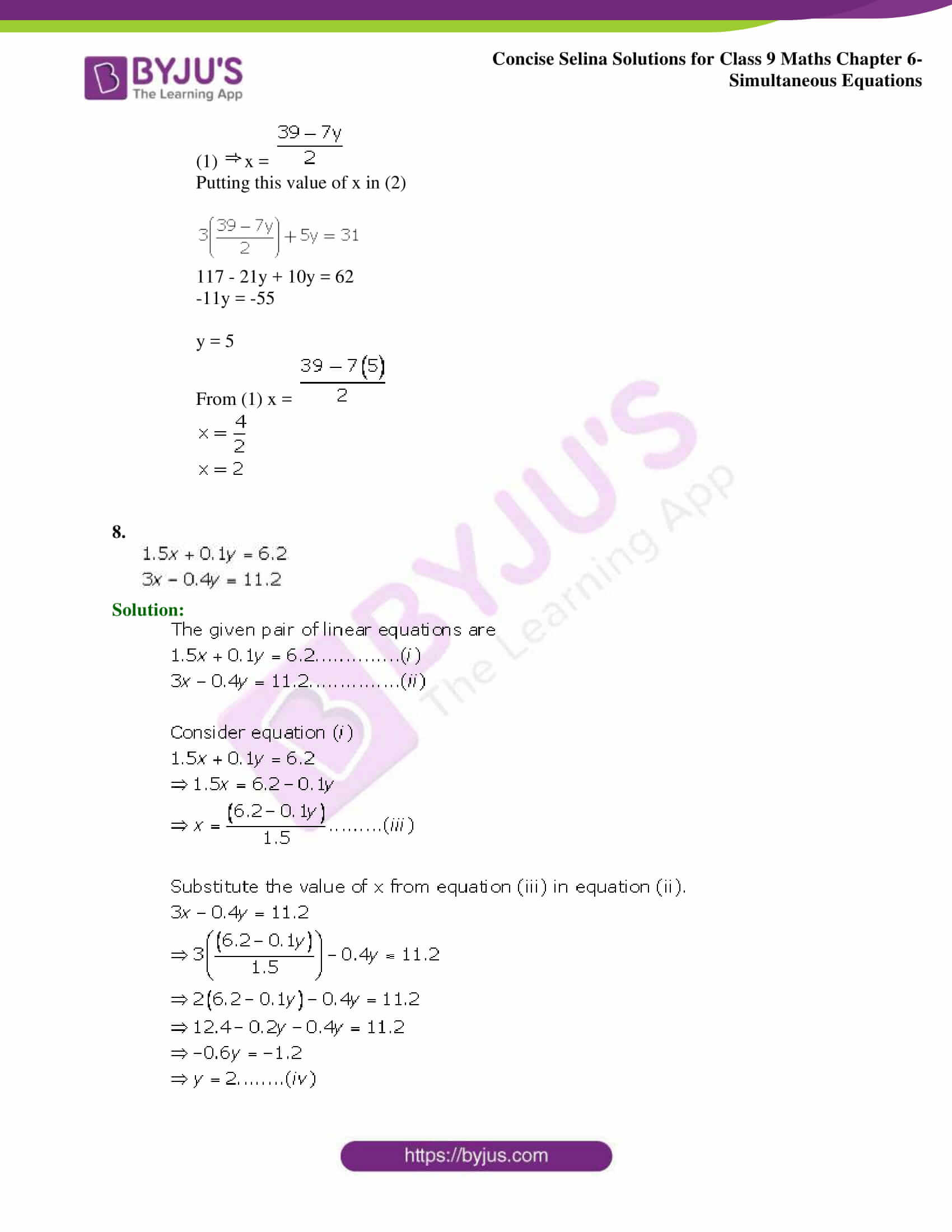 Selina Solutions Class 9 Maths Chapter 6 Simultaneous Equations part 04