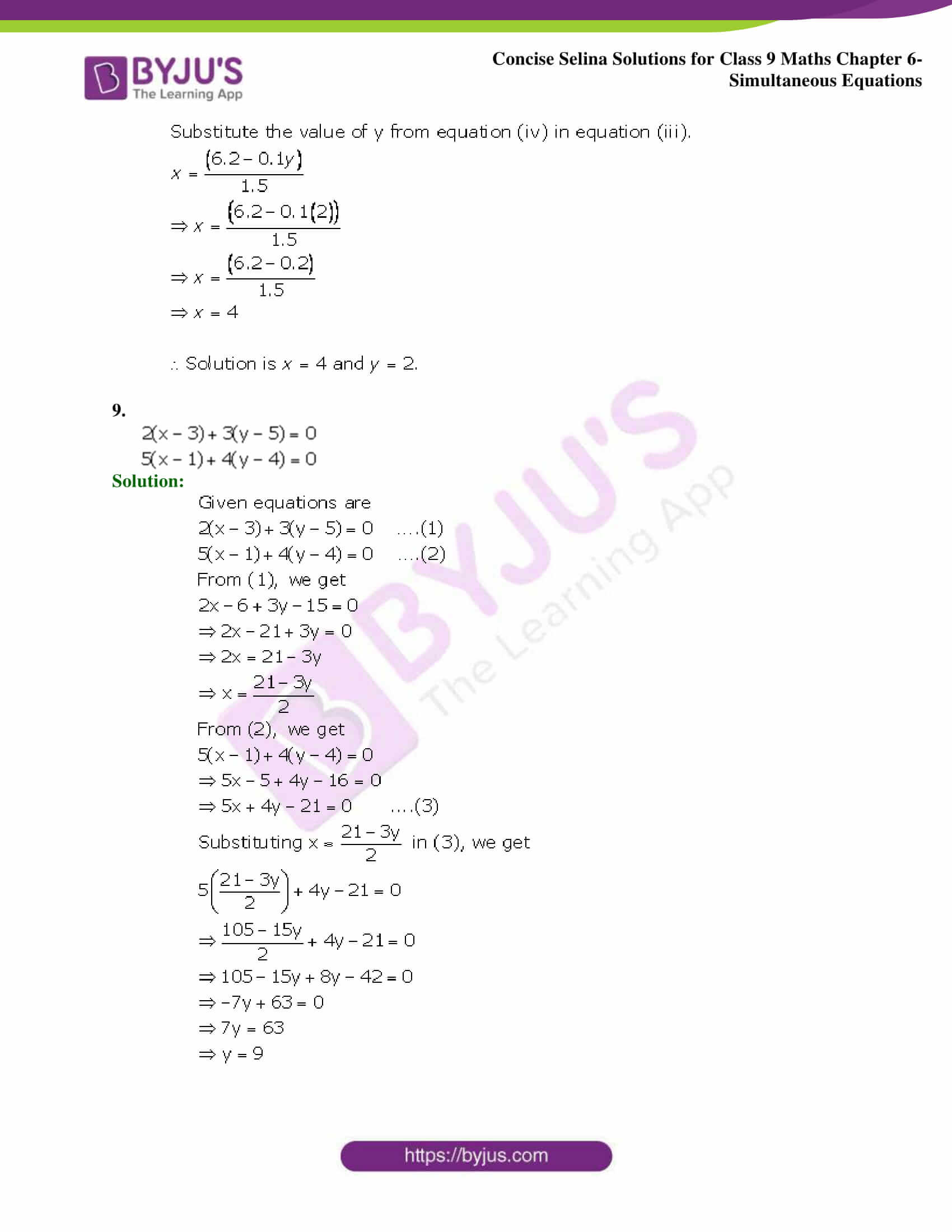 Selina Solutions Class 9 Maths Chapter 6 Simultaneous Equations part 05