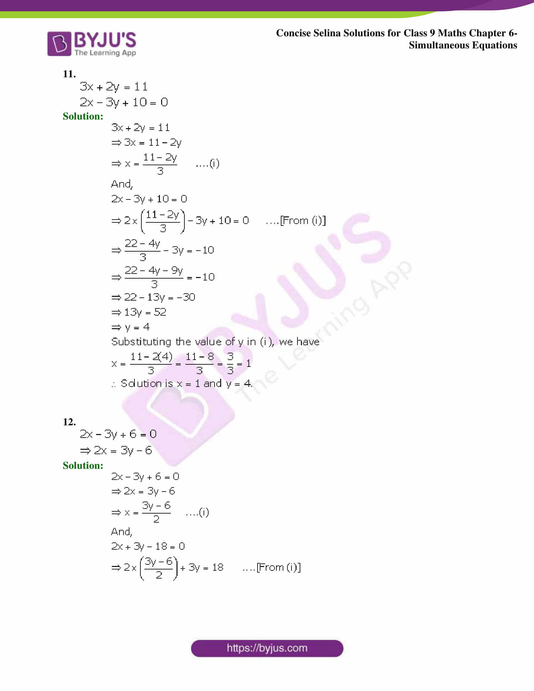Selina Solutions Class 9 Maths Chapter 6 Simultaneous Equations part 07