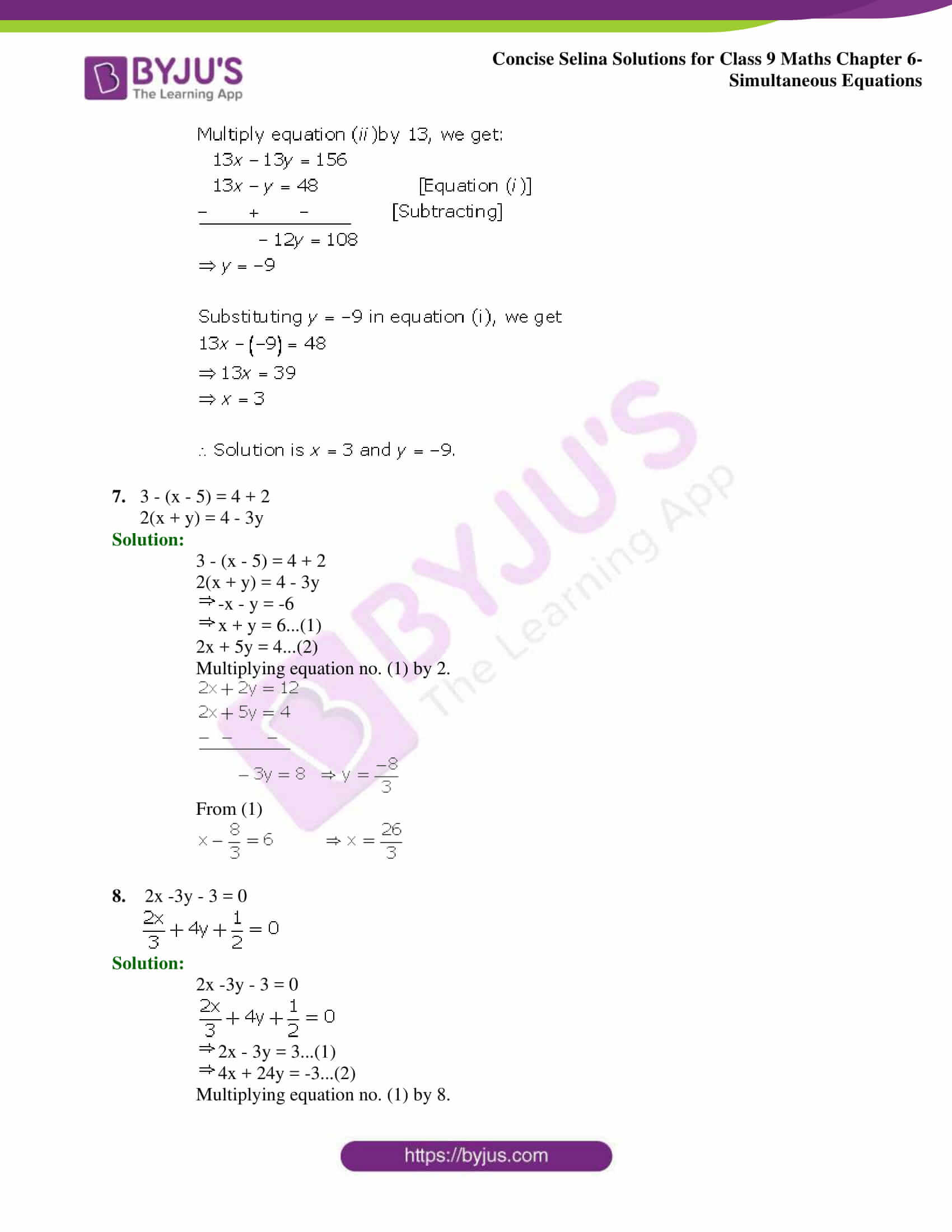 Selina Solutions Class 9 Maths Chapter 6 Simultaneous Equations part 13