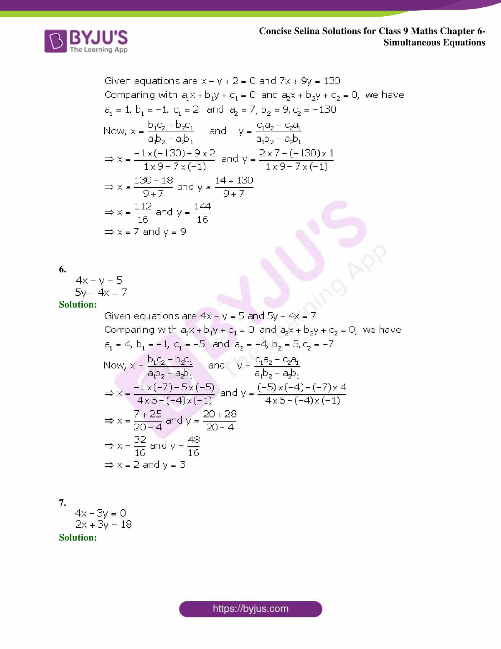 Selina Solutions Class 9 Maths Chapter 6 Simultaneous Equations part 23