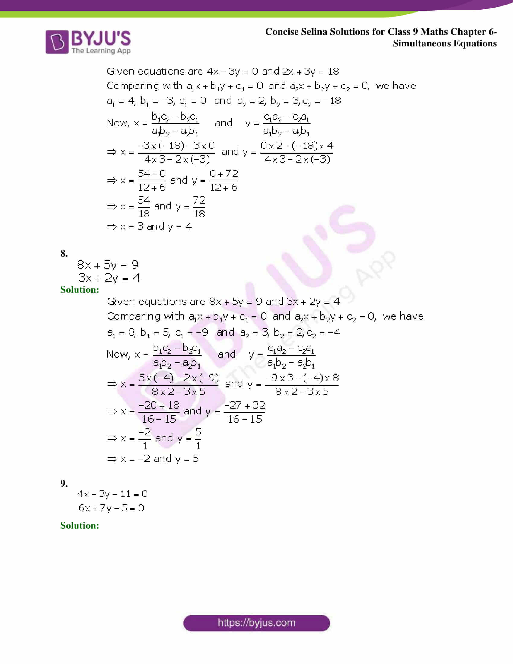 Selina Solutions Class 9 Maths Chapter 6 Simultaneous Equations part 24