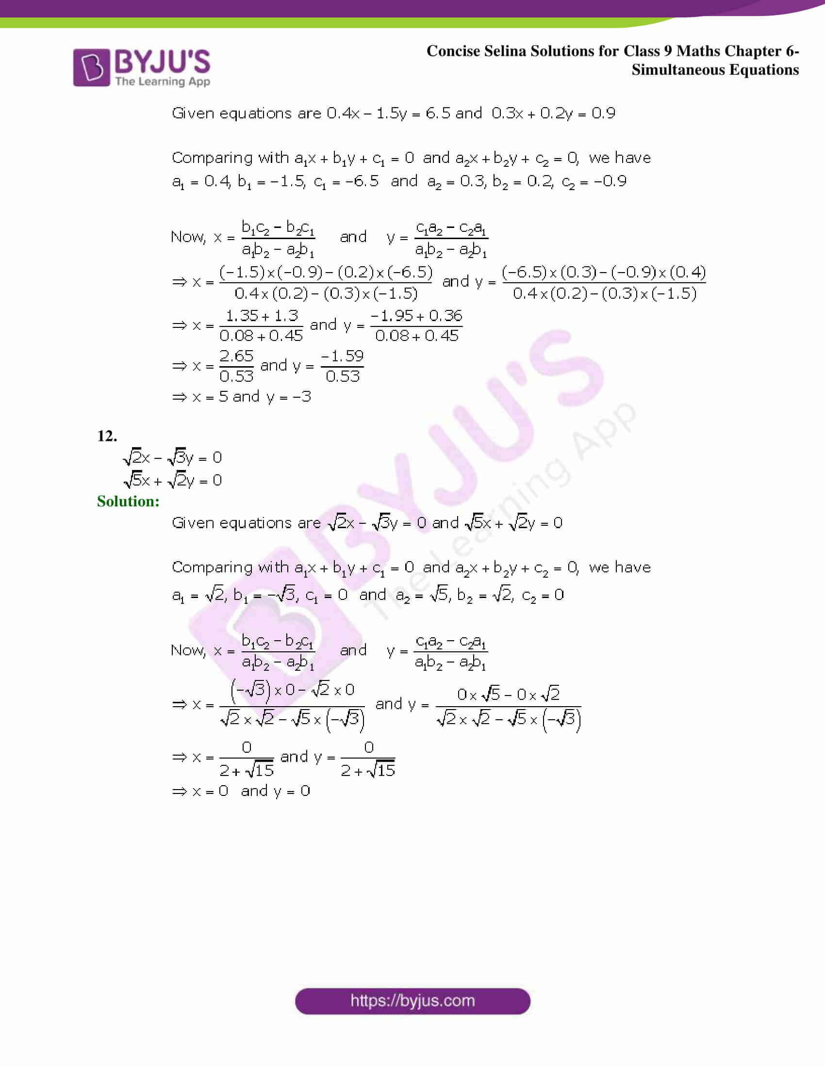 Selina Solutions Class 9 Maths Chapter 6 Simultaneous Equations part 26