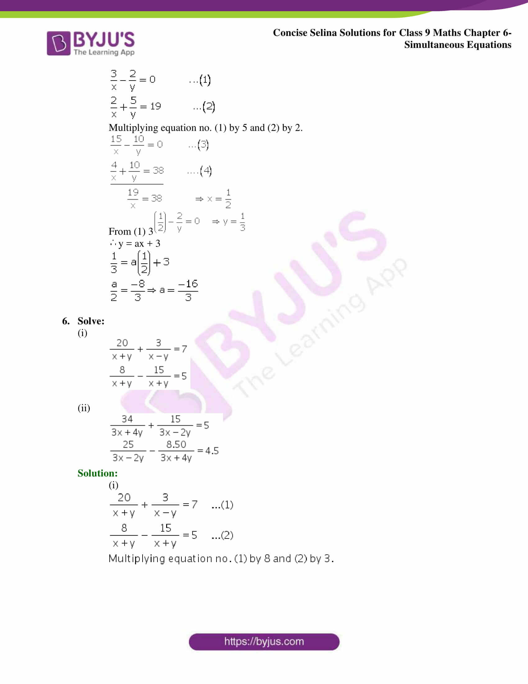 Selina Solutions Class 9 Maths Chapter 6 Simultaneous Equations part 30